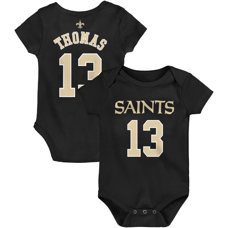 Michael Thomas New Orleans Saints Infant Mainliner Name & Number Bodysuit - Black