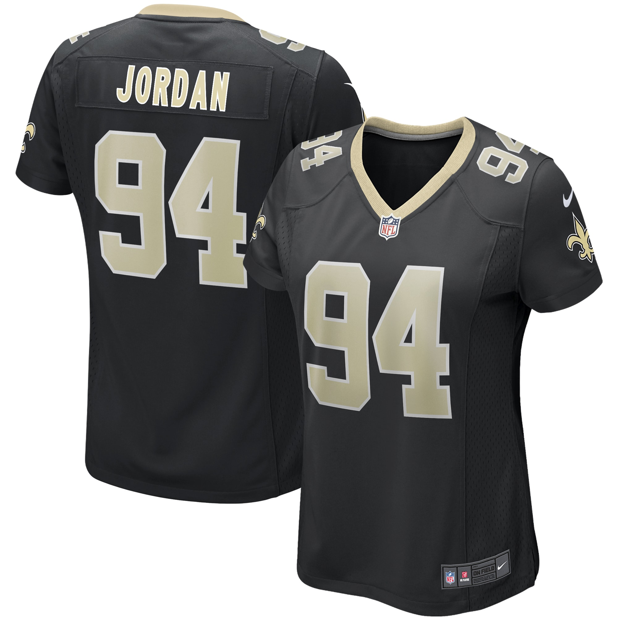 Cameron Jordan New Orleans Saints Nike Women's Game Jersey - Black