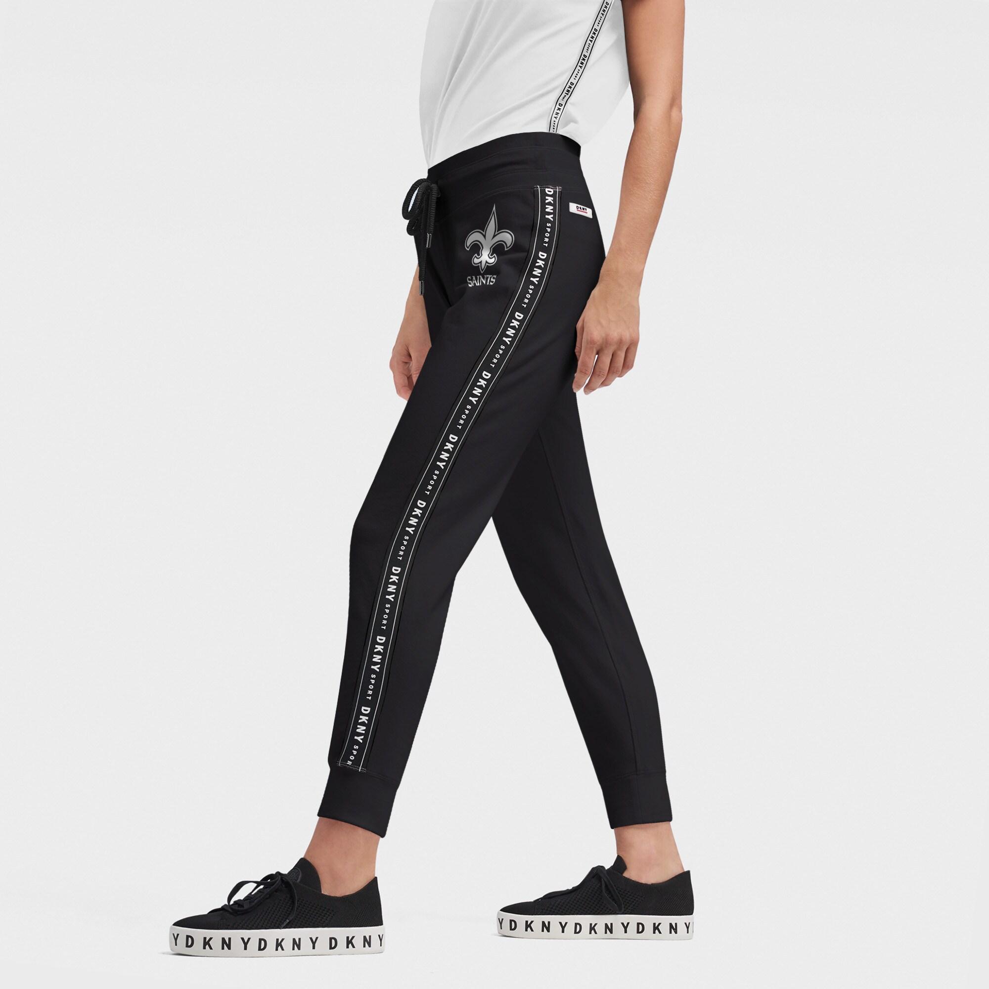 New Orleans Saints DKNY Sport Women's Brooke Jogger Pants - Black