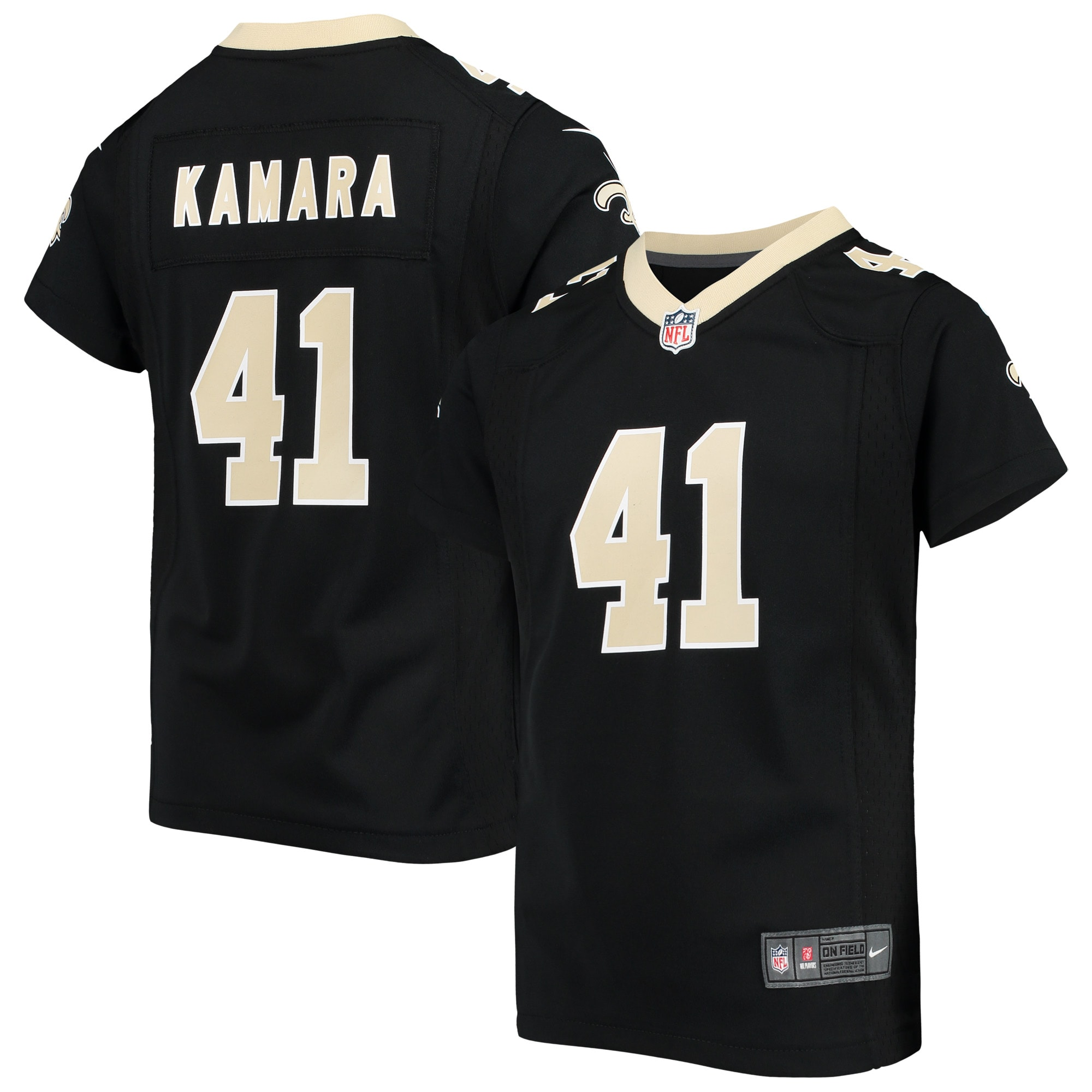 Alvin Kamara New Orleans Saints Nike Girls Youth Game Jersey - Black