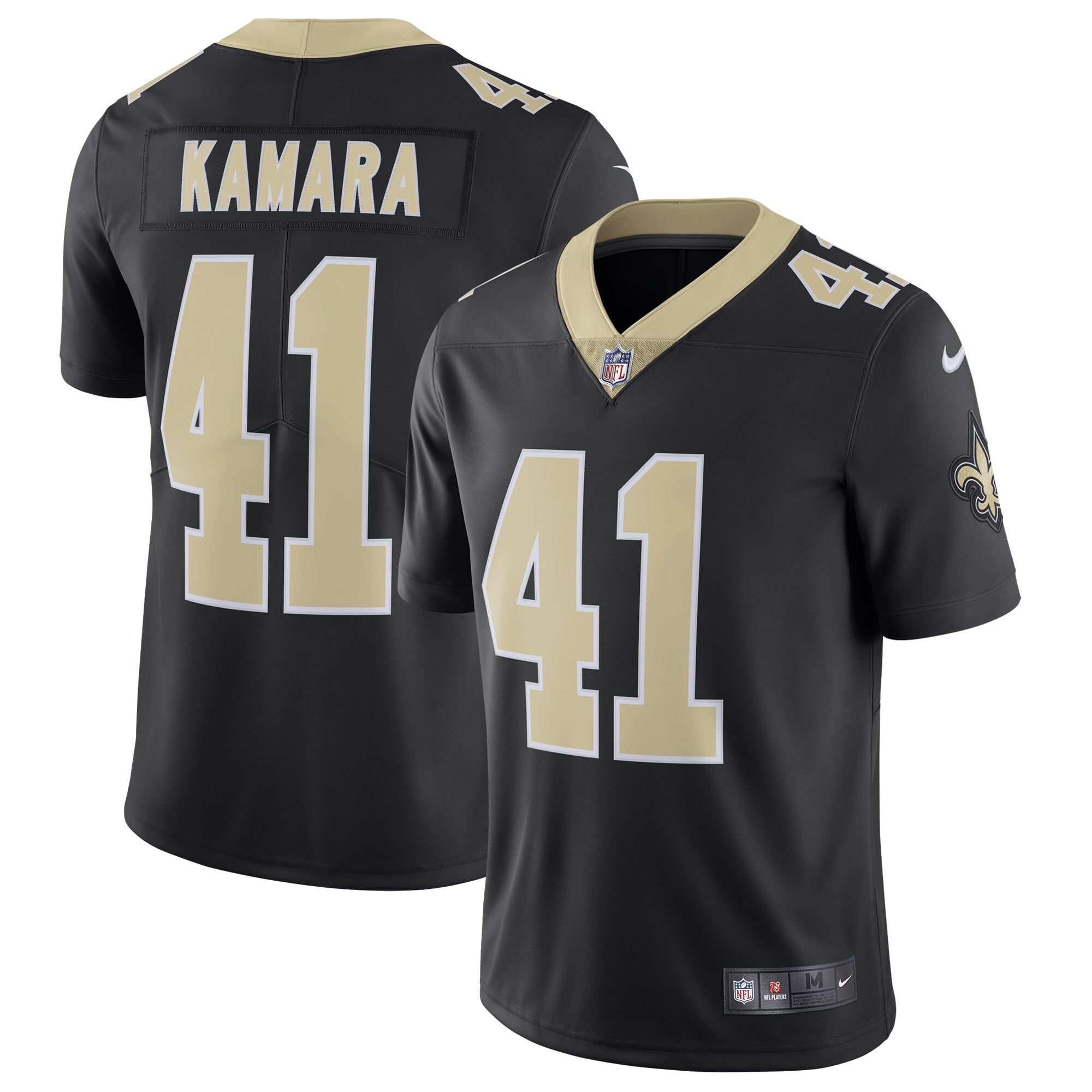 Alvin Kamara New Orleans Saints Nike Vapor Untouchable Limited Jersey - Black