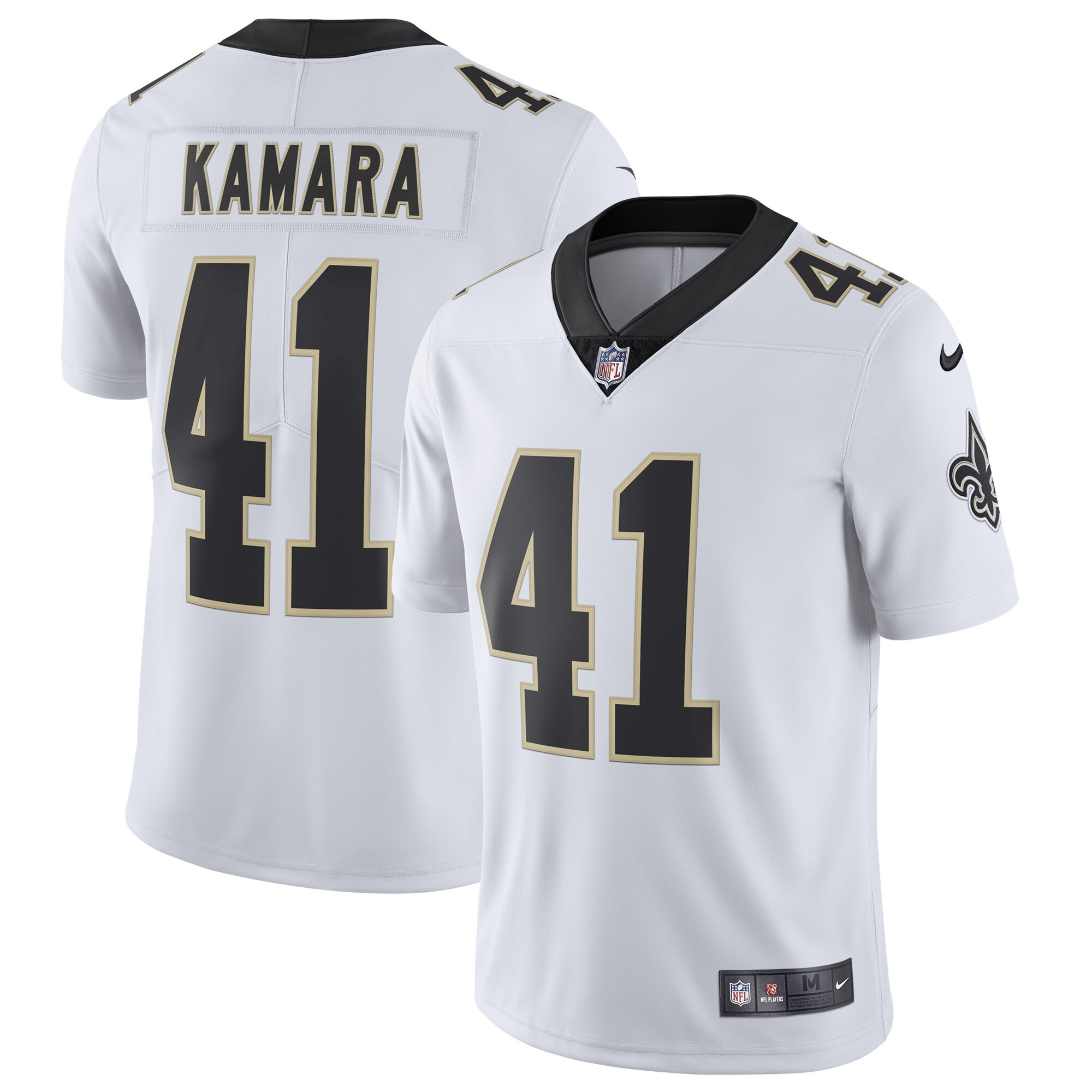 Alvin Kamara New Orleans Saints Nike Vapor Untouchable Limited Jersey - White