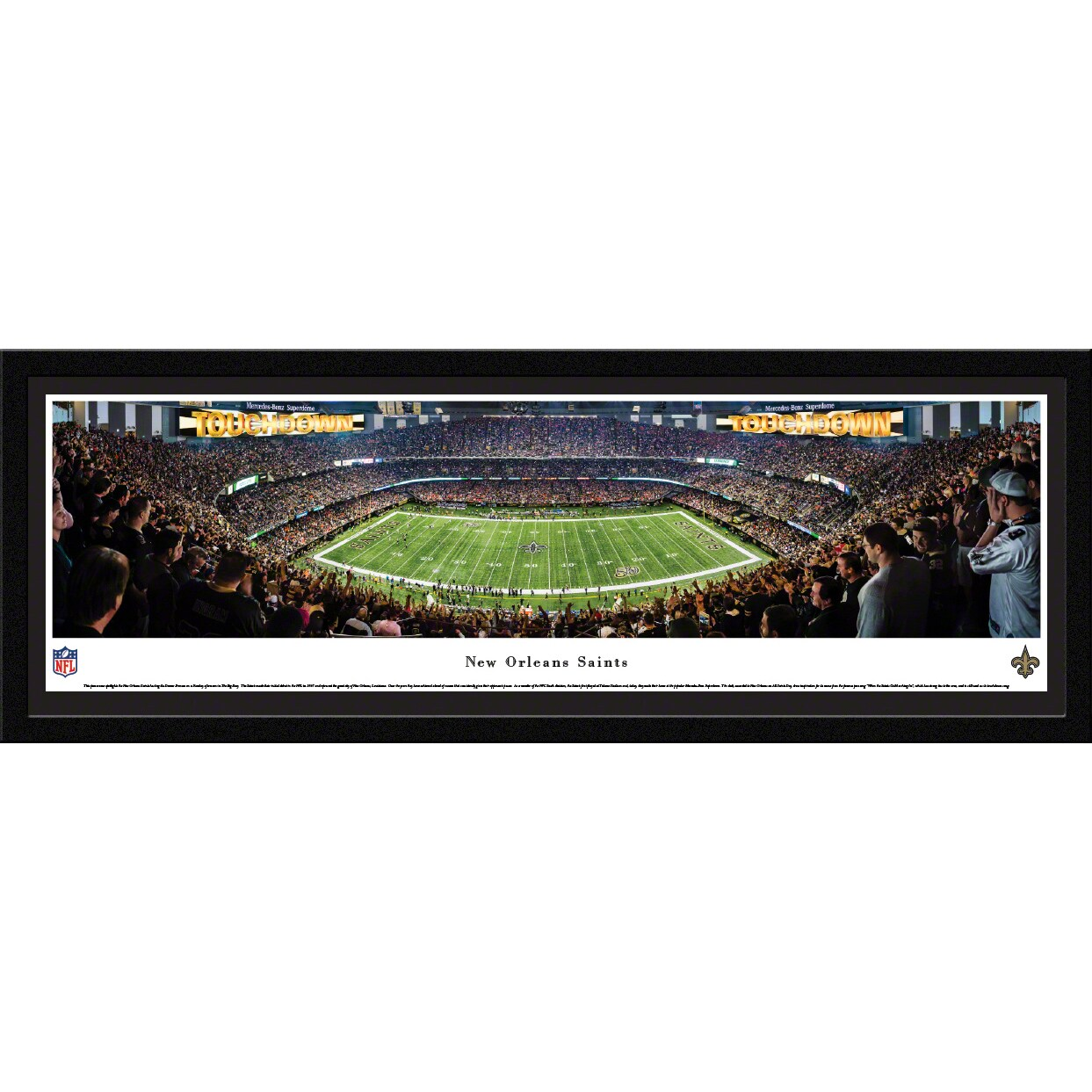 "New Orleans Saints 16"" x 42"" Select Frame Panoramic Photo"