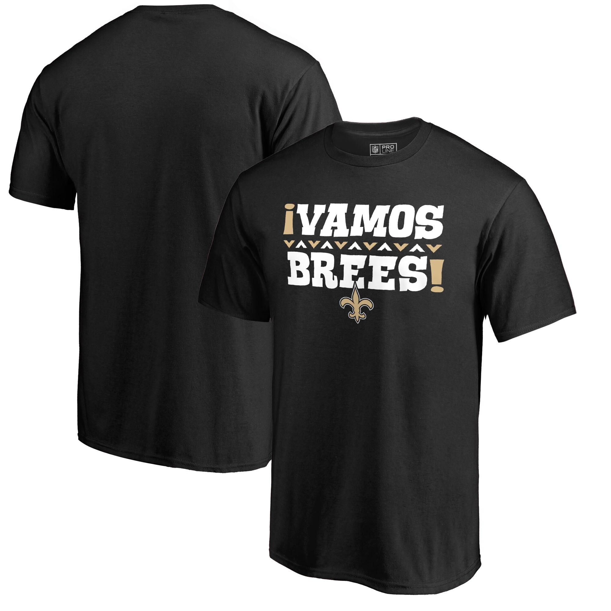 Drew Brees New Orleans Saints NFL Pro Line by Fanatics Branded Vamos T-Shirt - Black