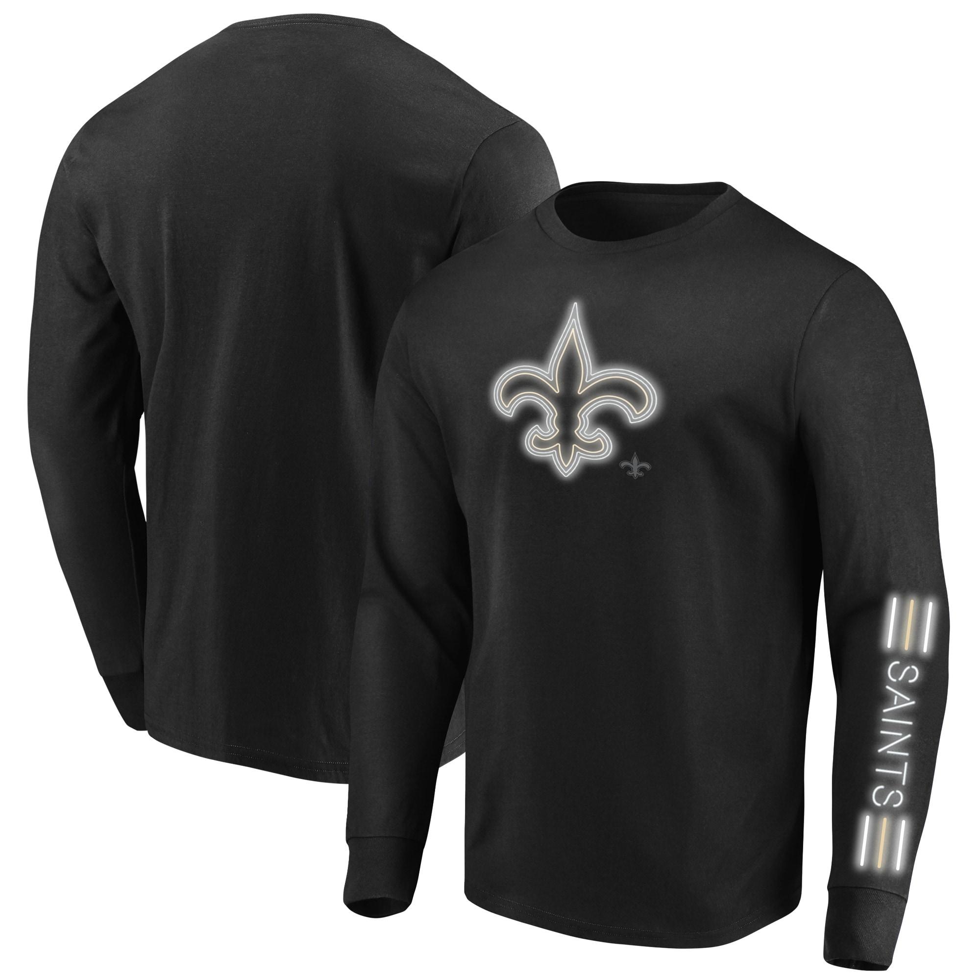 New Orleans Saints Majestic Big & Tall Startling Success Long Sleeve T-Shirt - Black