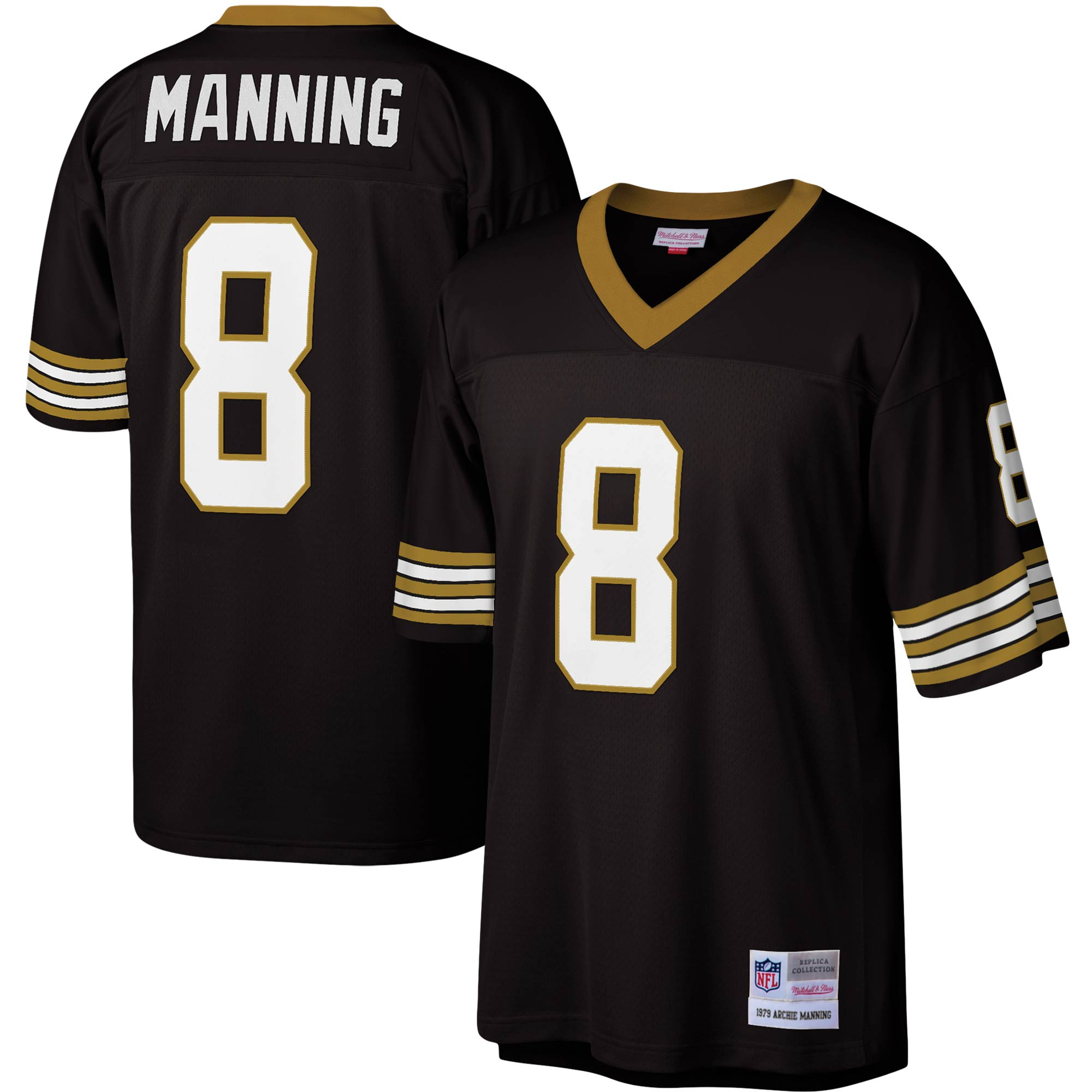 Archie Manning New Orleans Saints Mitchell & Ness Legacy Replica Jersey - Black