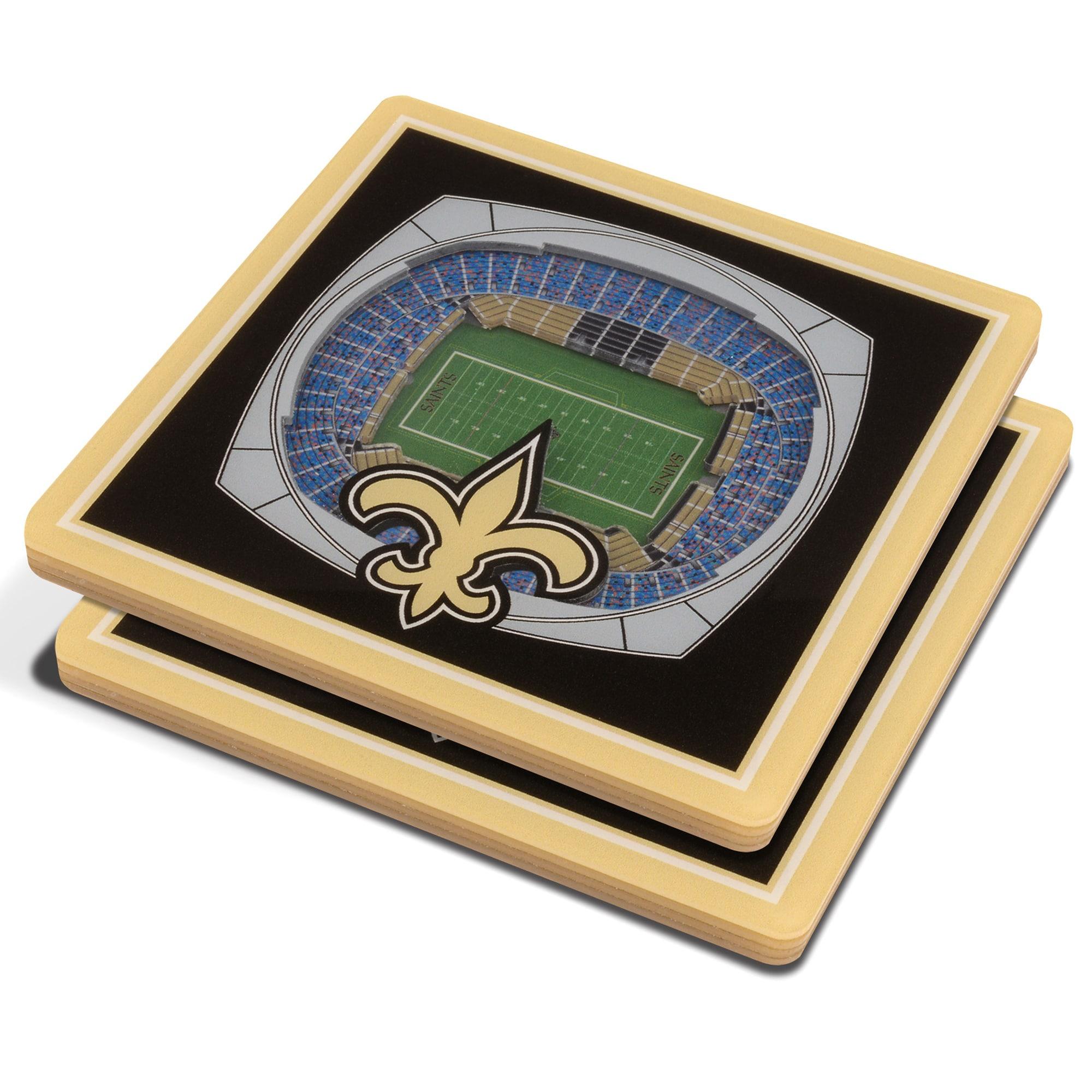 New Orleans Saints 3D StadiumViews Coasters - Black