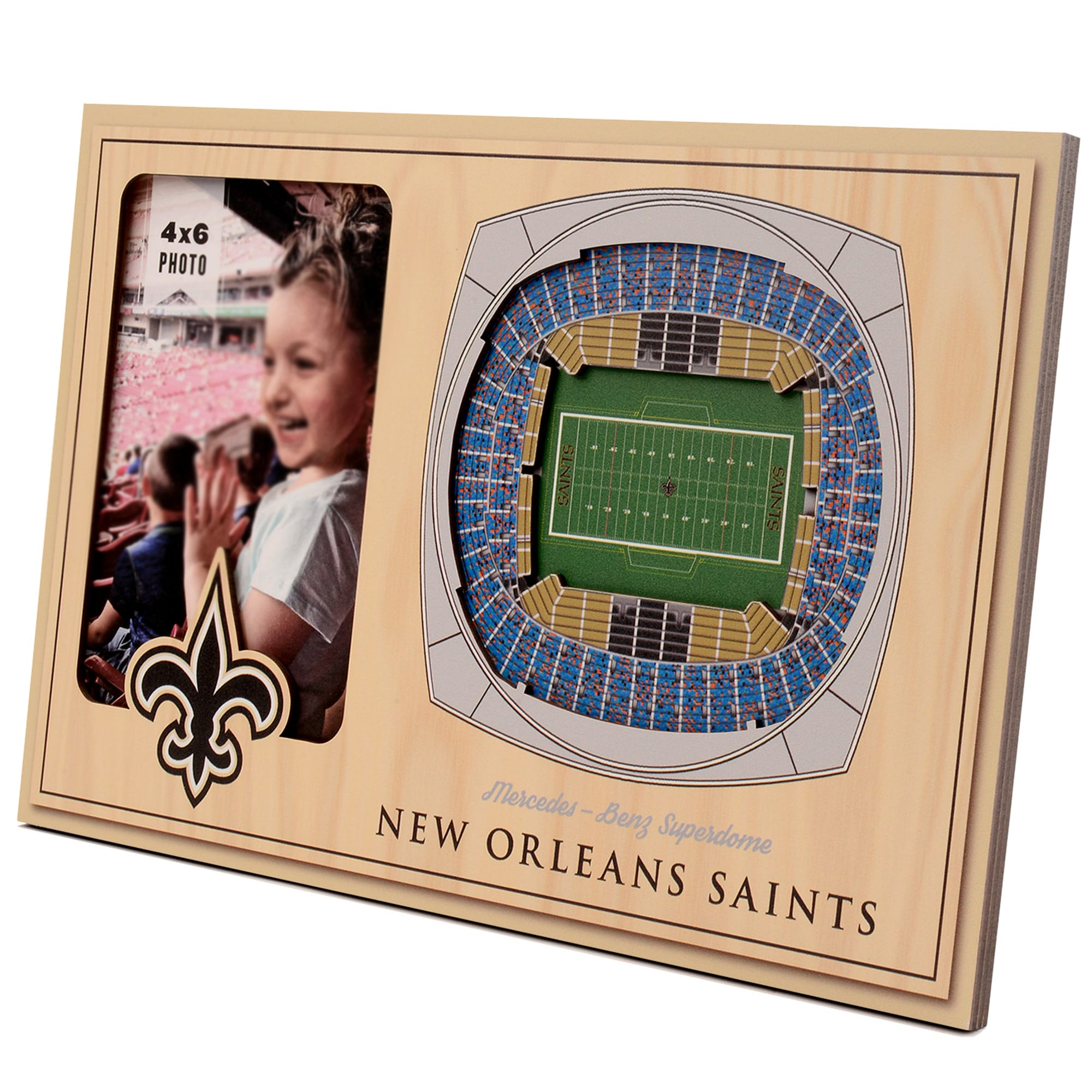 New Orleans Saints 3D StadiumViews Picture Frame - Brown