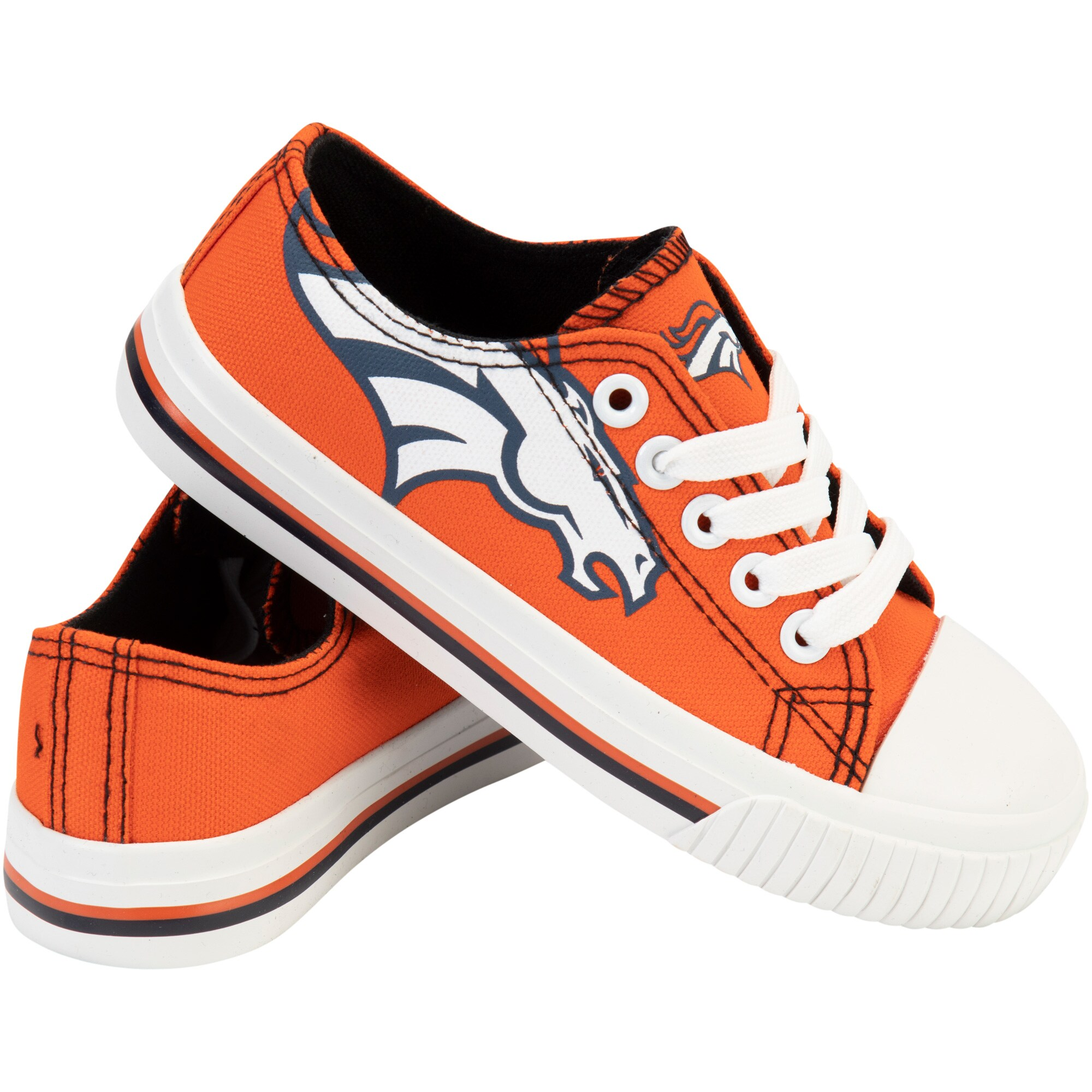 Denver Broncos Youth Low Top Big Logo Canvas Shoes