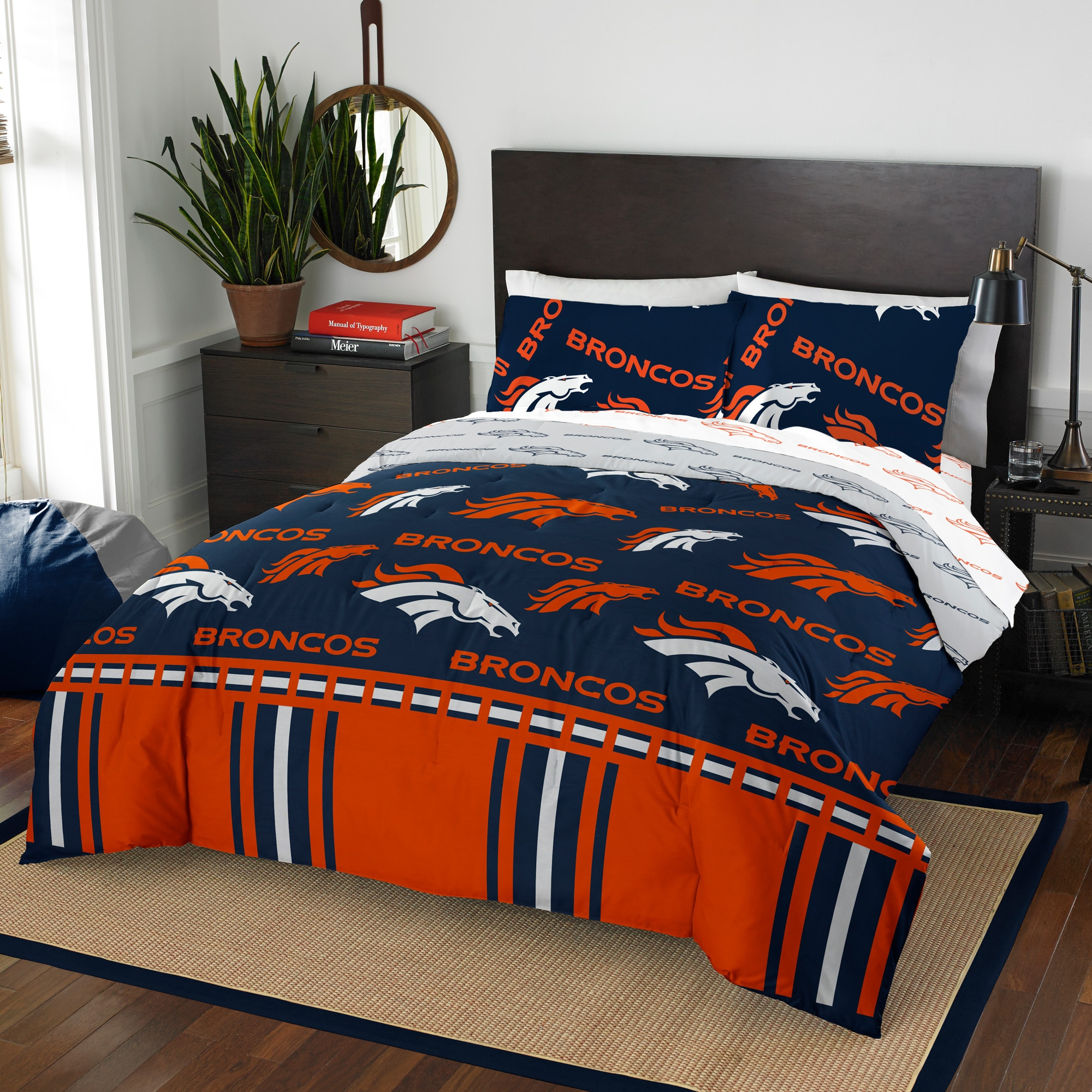 Denver Broncos The Northwest Company 5-Piece Queen Bed in a Bag Set