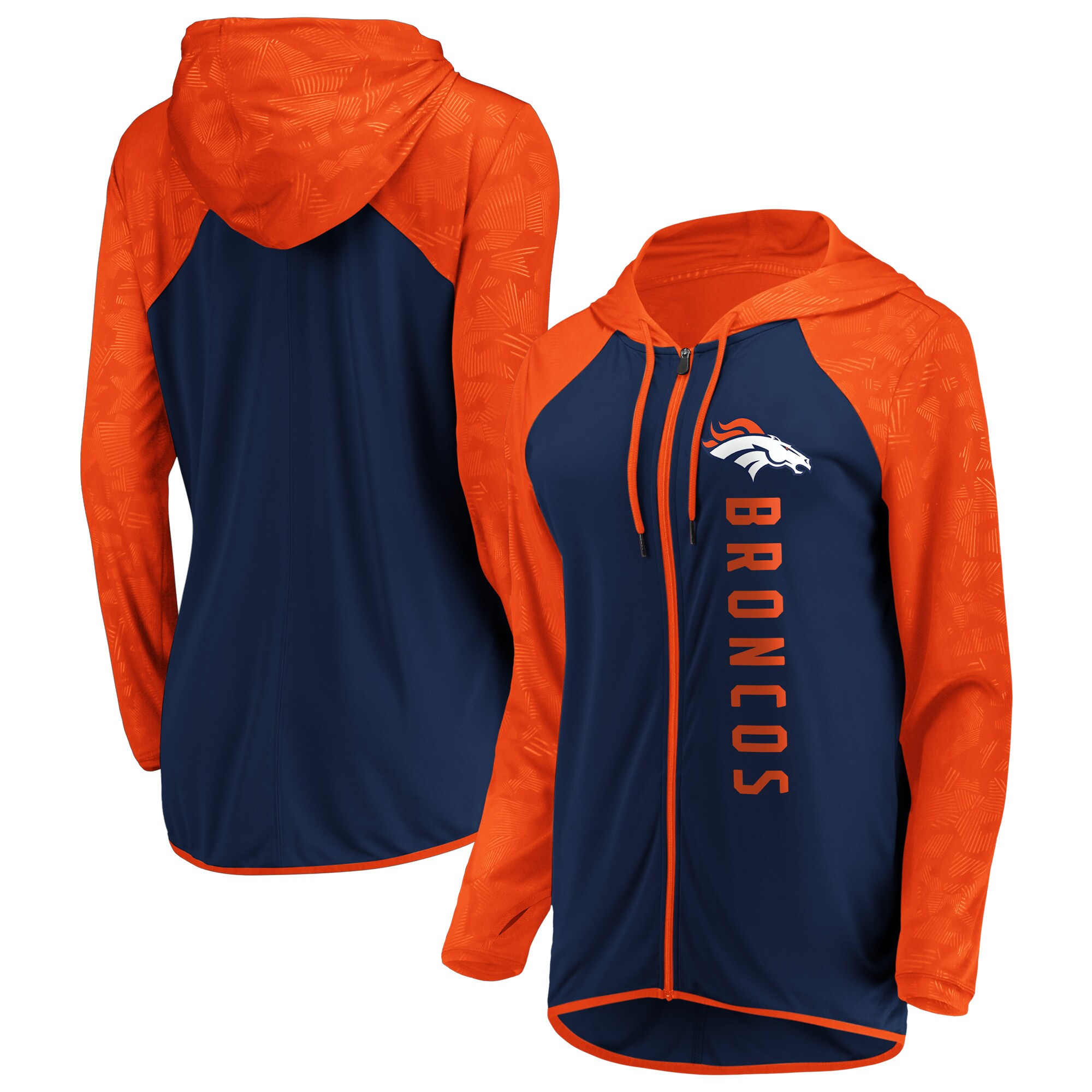 Denver Broncos Fanatics Branded Women's Forever Fan Full-Zip Hoodie - Navy
