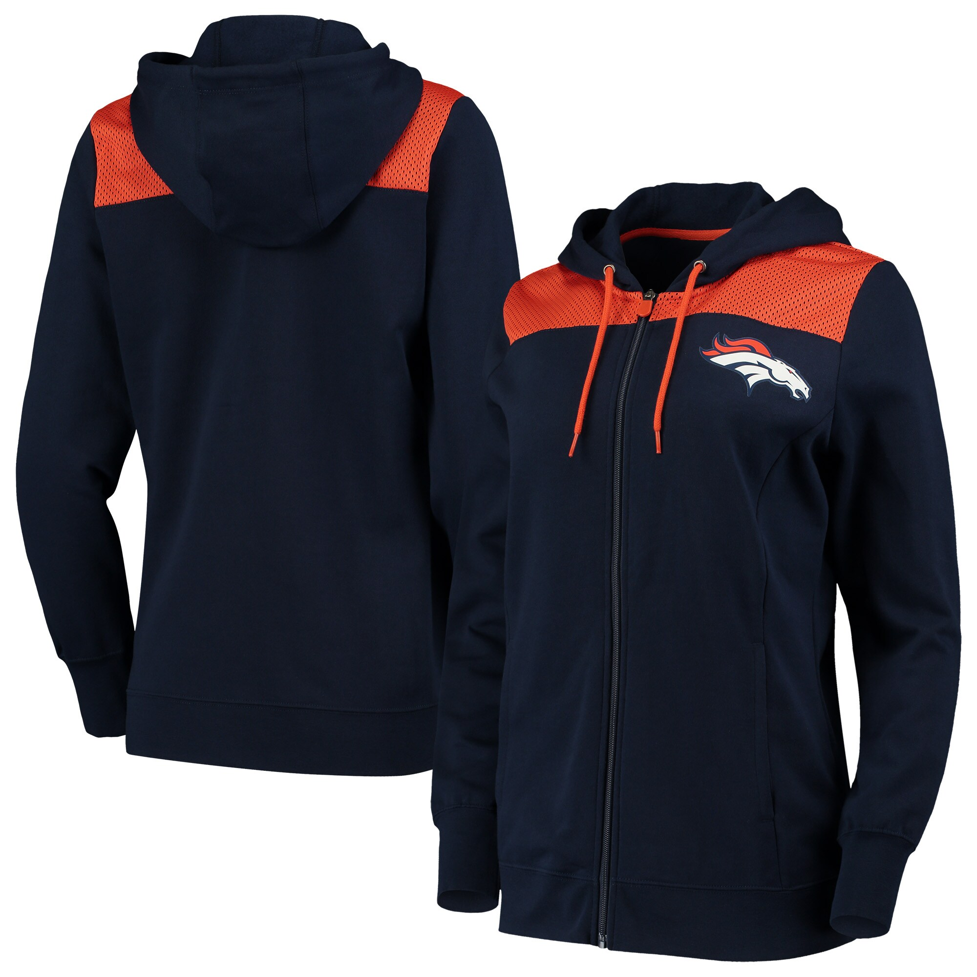Denver Broncos Fanatics Branded Women's Team Best Full-Zip Hoodie - Navy