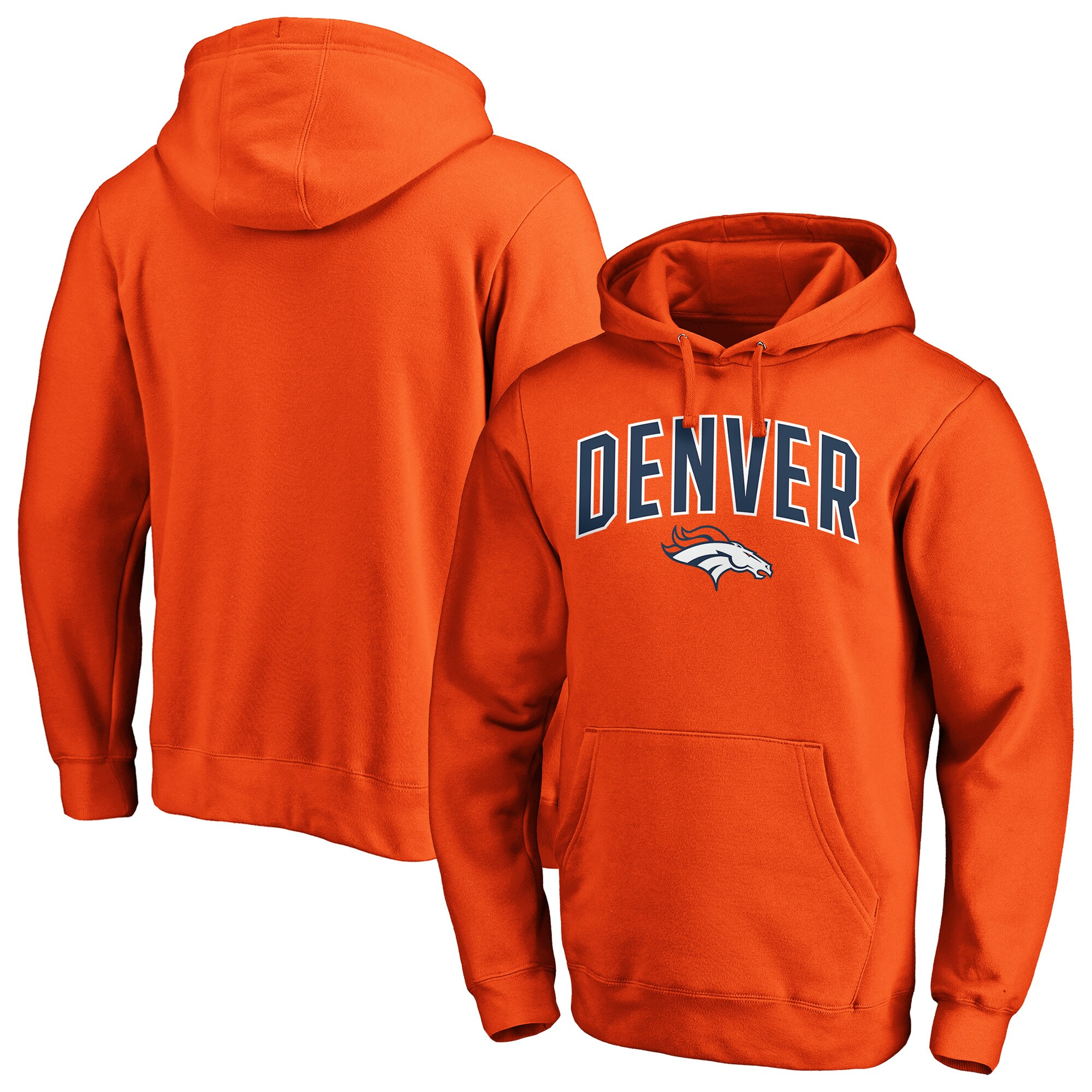 Denver Broncos NFL Pro Line by Fanatics Branded Iconic Engage Arch Pullover Hoodie - Orange