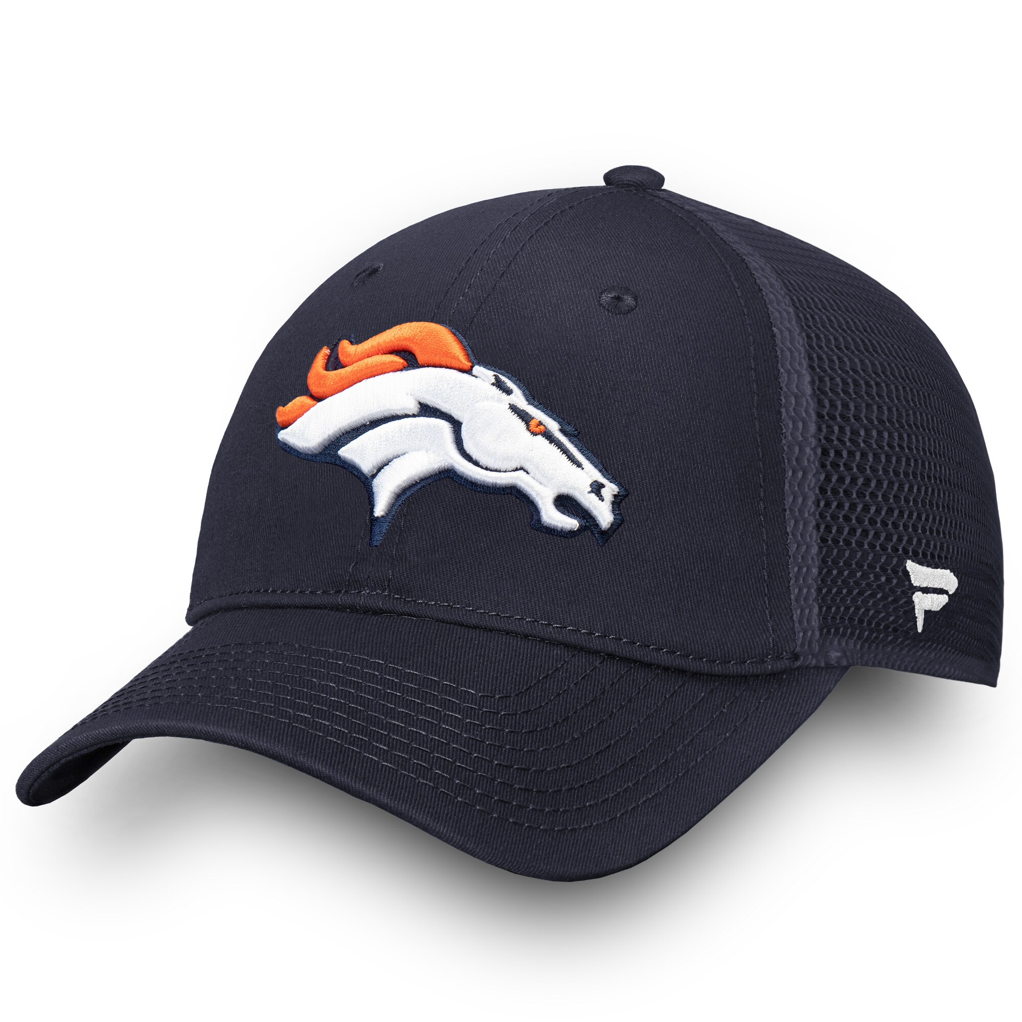 Denver Broncos NFL Pro Line by Fanatics Branded Elevated Core Trucker Adjustable Snapback Hat - Navy