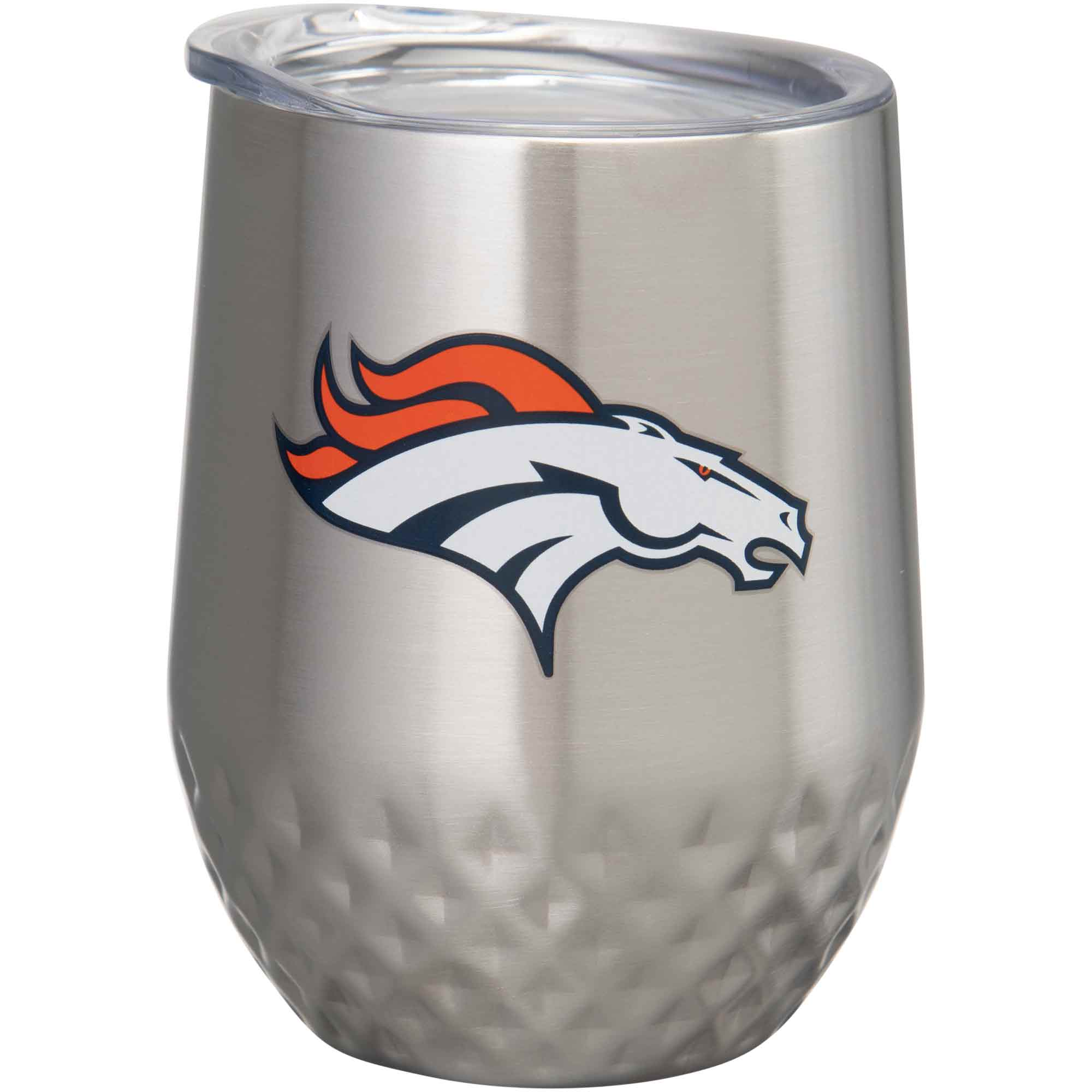 Denver Broncos 12oz. Stainless Steel Stemless Diamond Tumbler