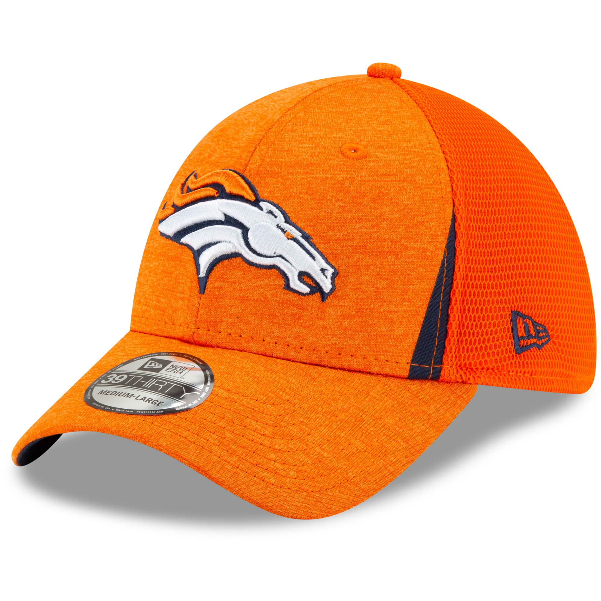 Denver Broncos New Era Slice Neo 39THIRTY Flex Hat - Orange