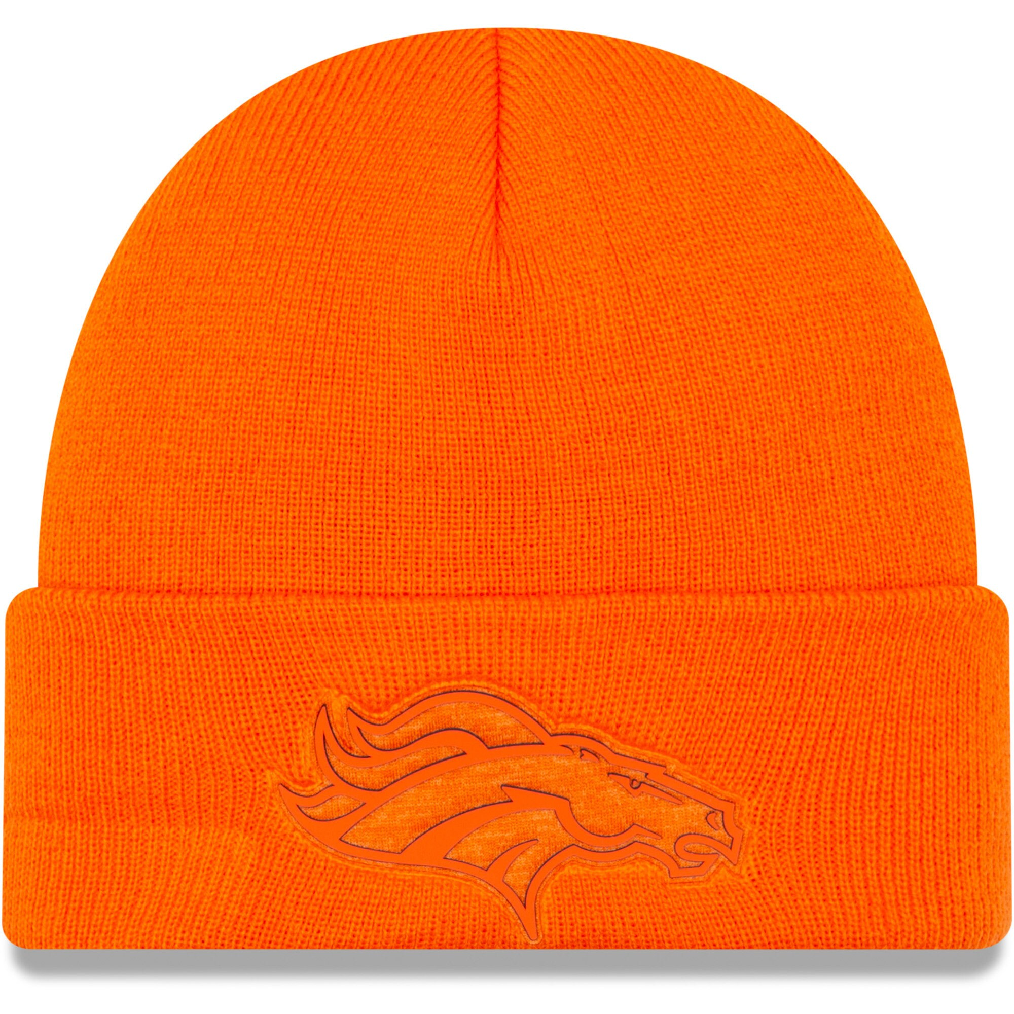 Denver Broncos New Era Vivid Cuffed Knit Hat - Orange