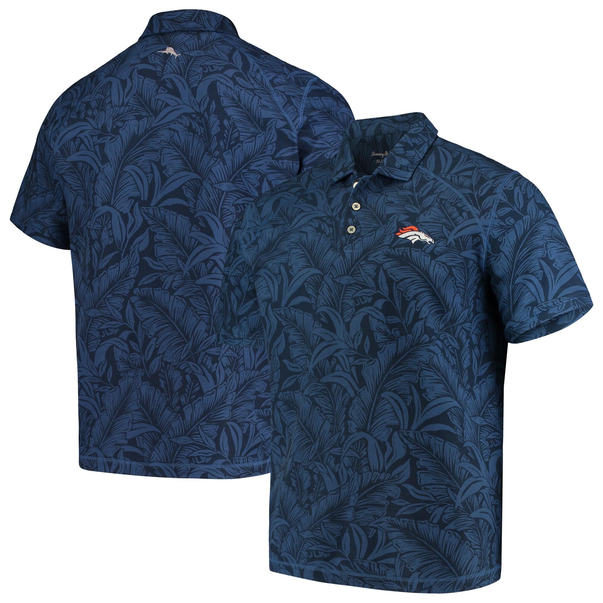 Denver Broncos Tommy Bahama Sport Leafbacker Polo - Navy
