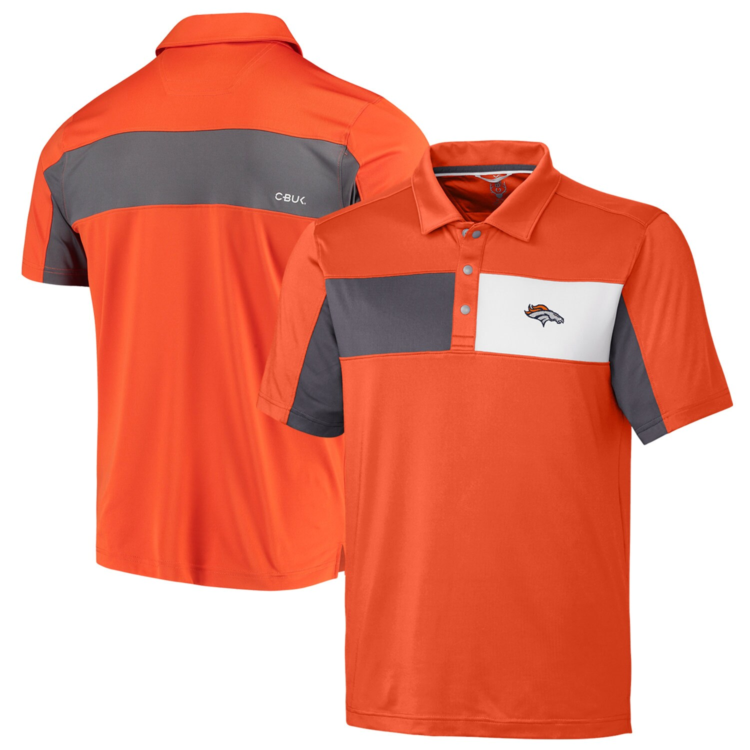 Denver Broncos CBUK by Cutter & Buck Logan Polo - Orange