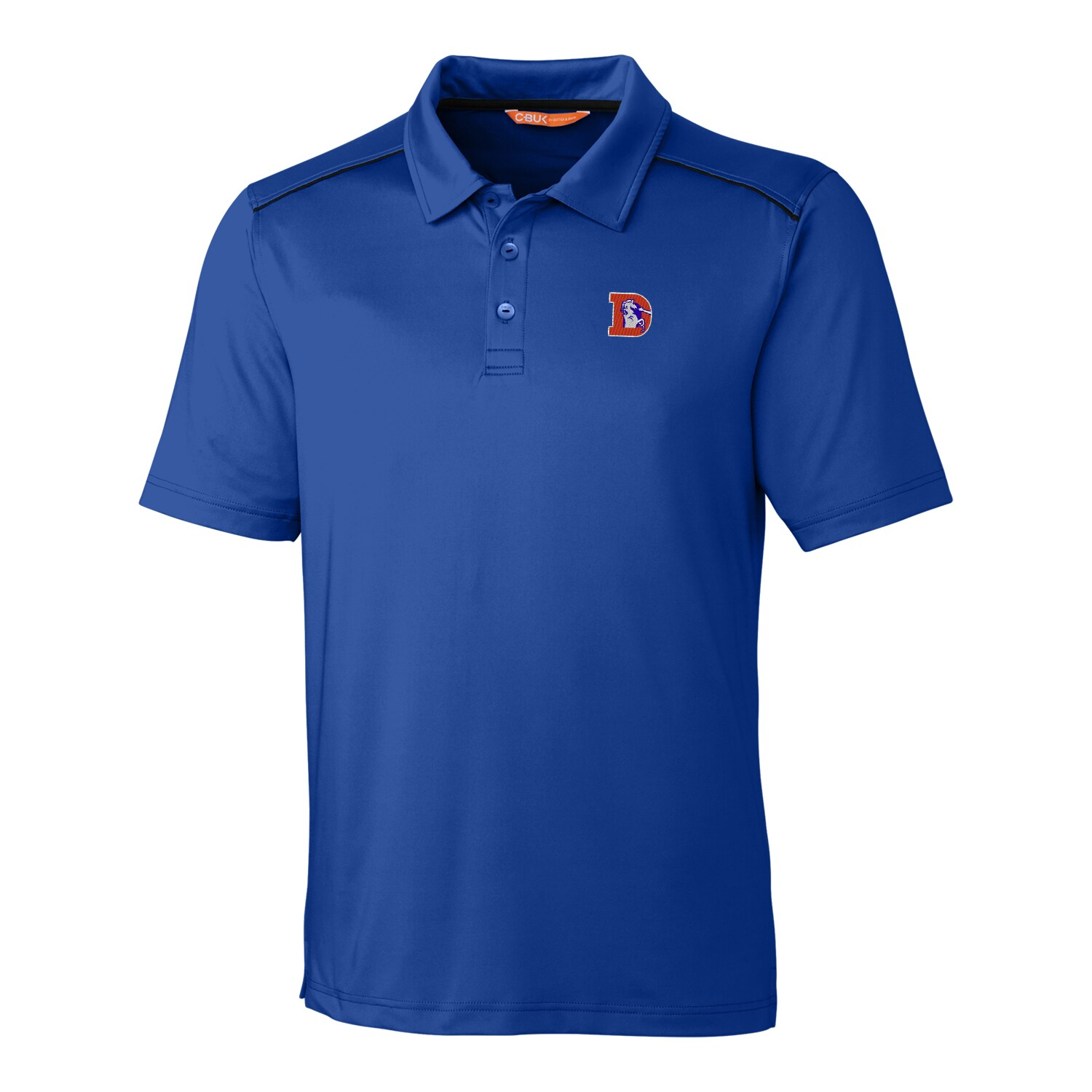 Denver Broncos CBUK by Cutter & Buck Throwback Chance Polo - Royal