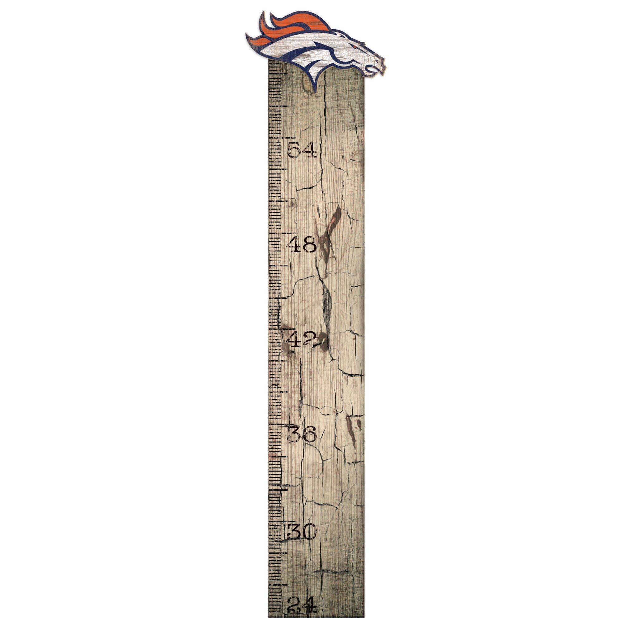 "Denver Broncos 6"" x 36"" Growth Chart Sign"