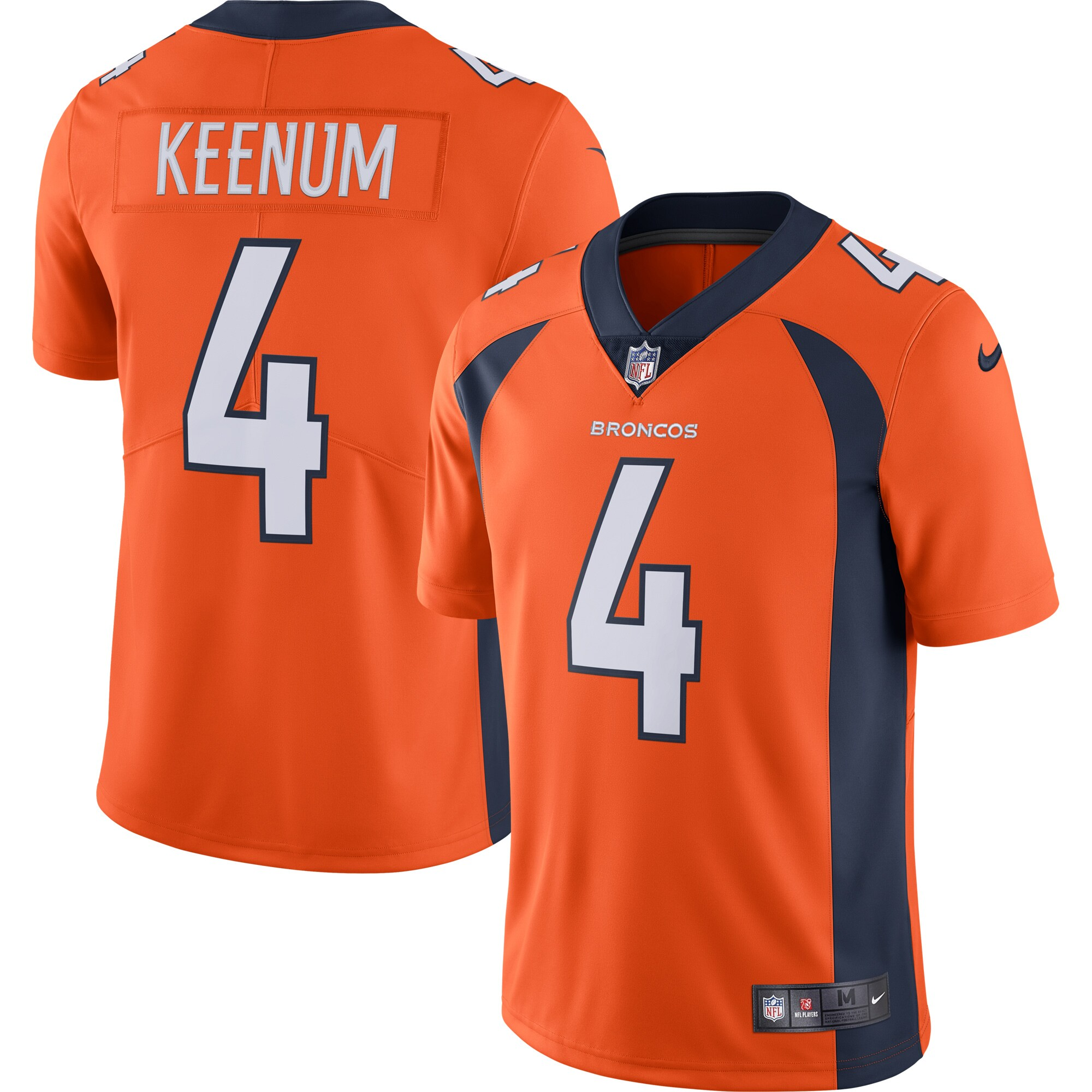 Case Keenum Denver Broncos Nike Vapor Untouchable Limited Jersey - Orange