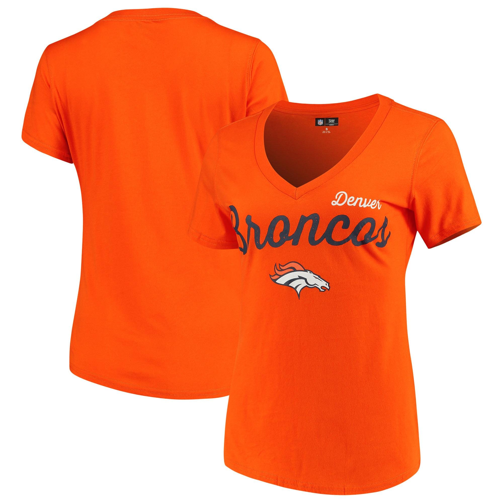 Denver Broncos G-III 4Her by Carl Banks Women's Post Season V-Neck T-Shirt - Orange