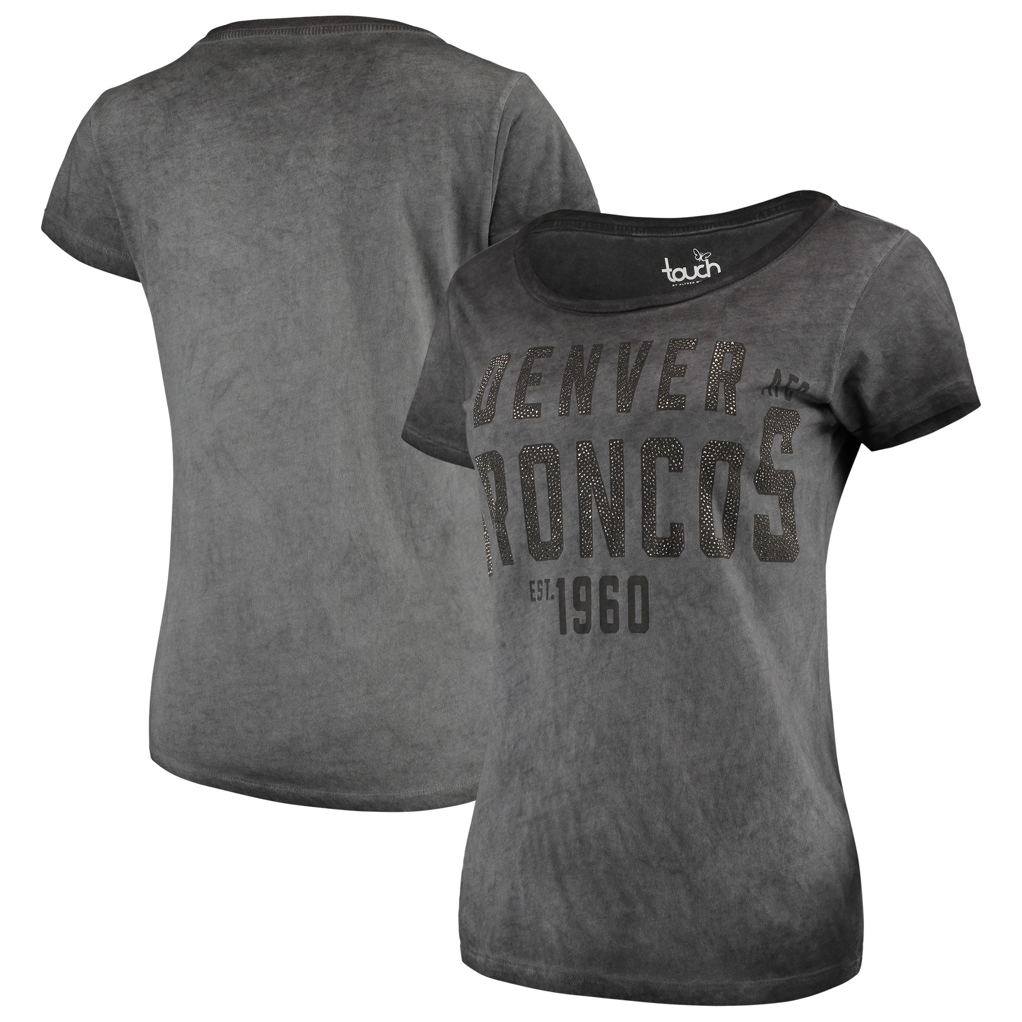 Denver Broncos Touch by Alyssa Milano Women's Fade Route T-Shirt - Gray