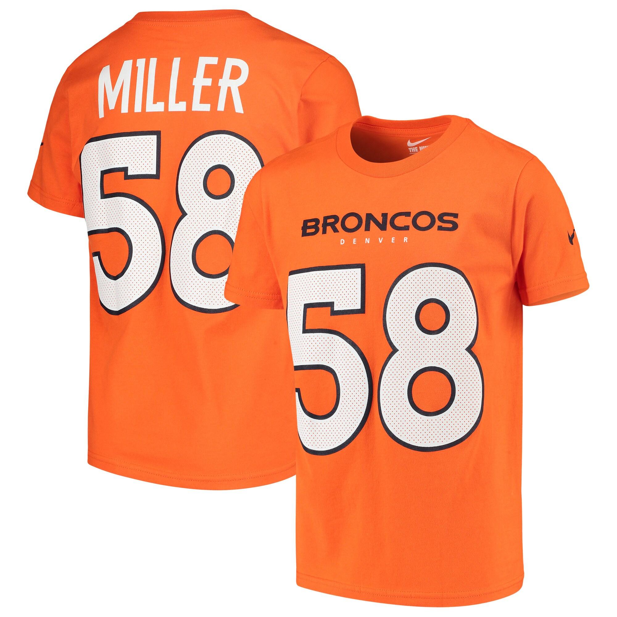 Von Miller Denver Broncos Nike Youth Player Pride 3.0 Name & Number T-Shirt - Orange