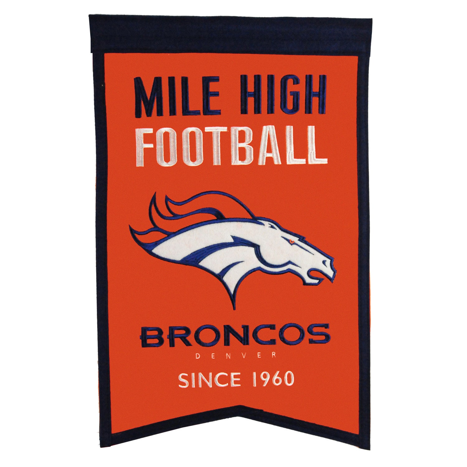 "Denver Broncos 14"" x 22"" Team Franchise Banner"