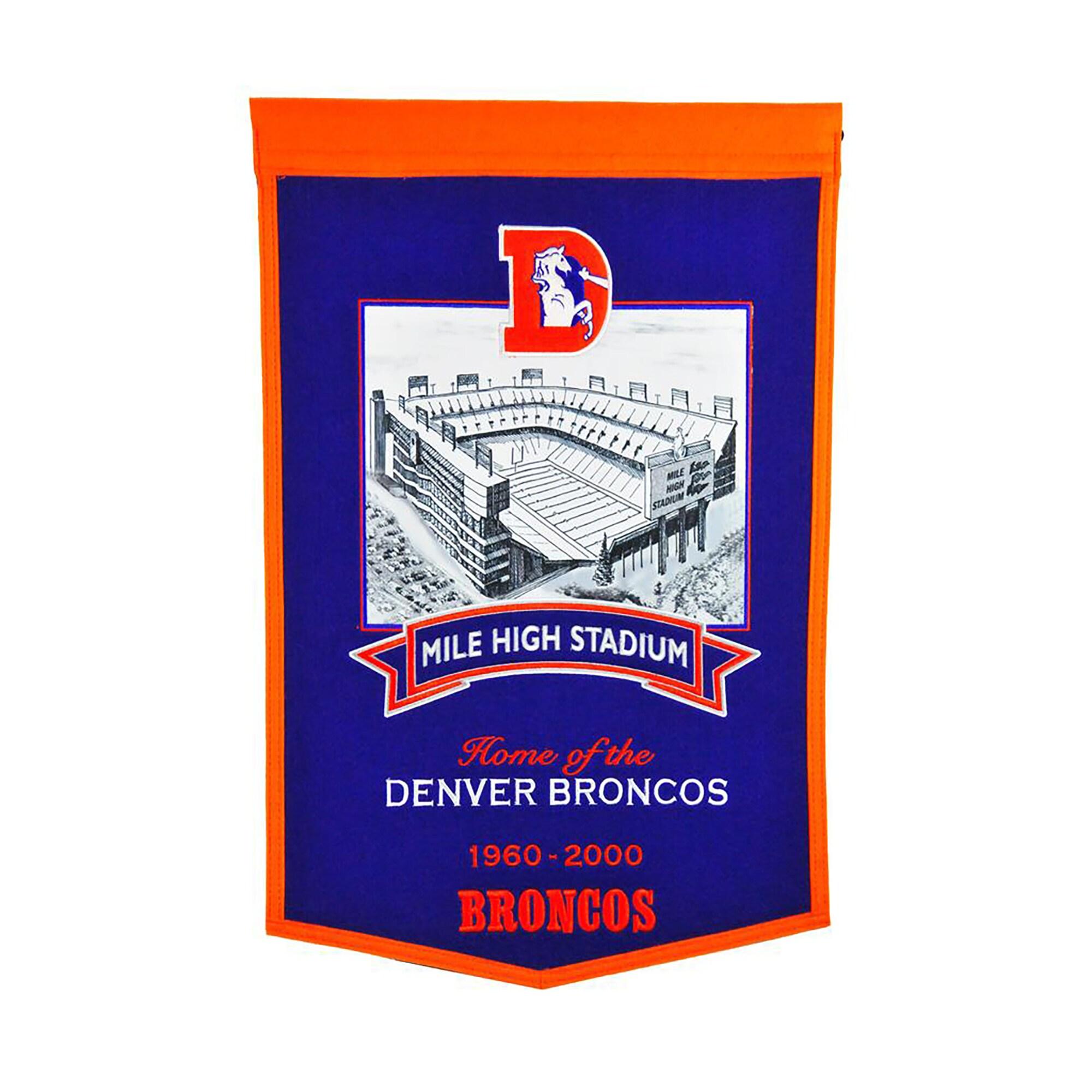 "Denver Broncos 15"" x 24"" Stadium Banner"