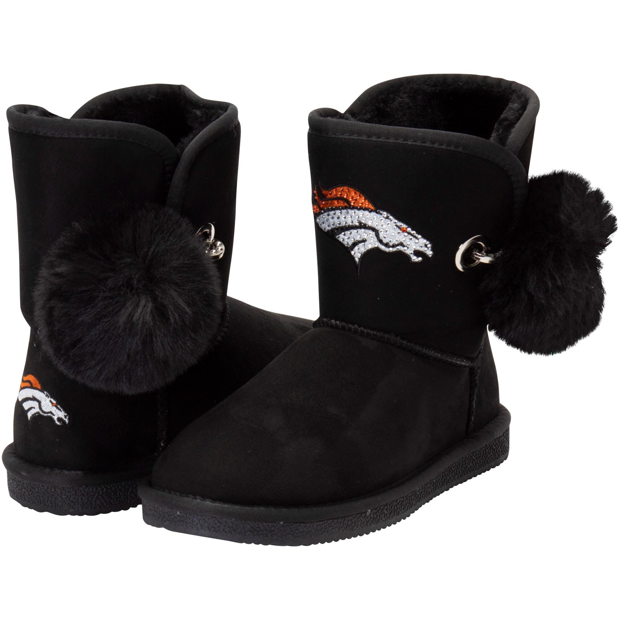 Denver Broncos Cuce Women's The Fumble Faux Fur Boots - Black