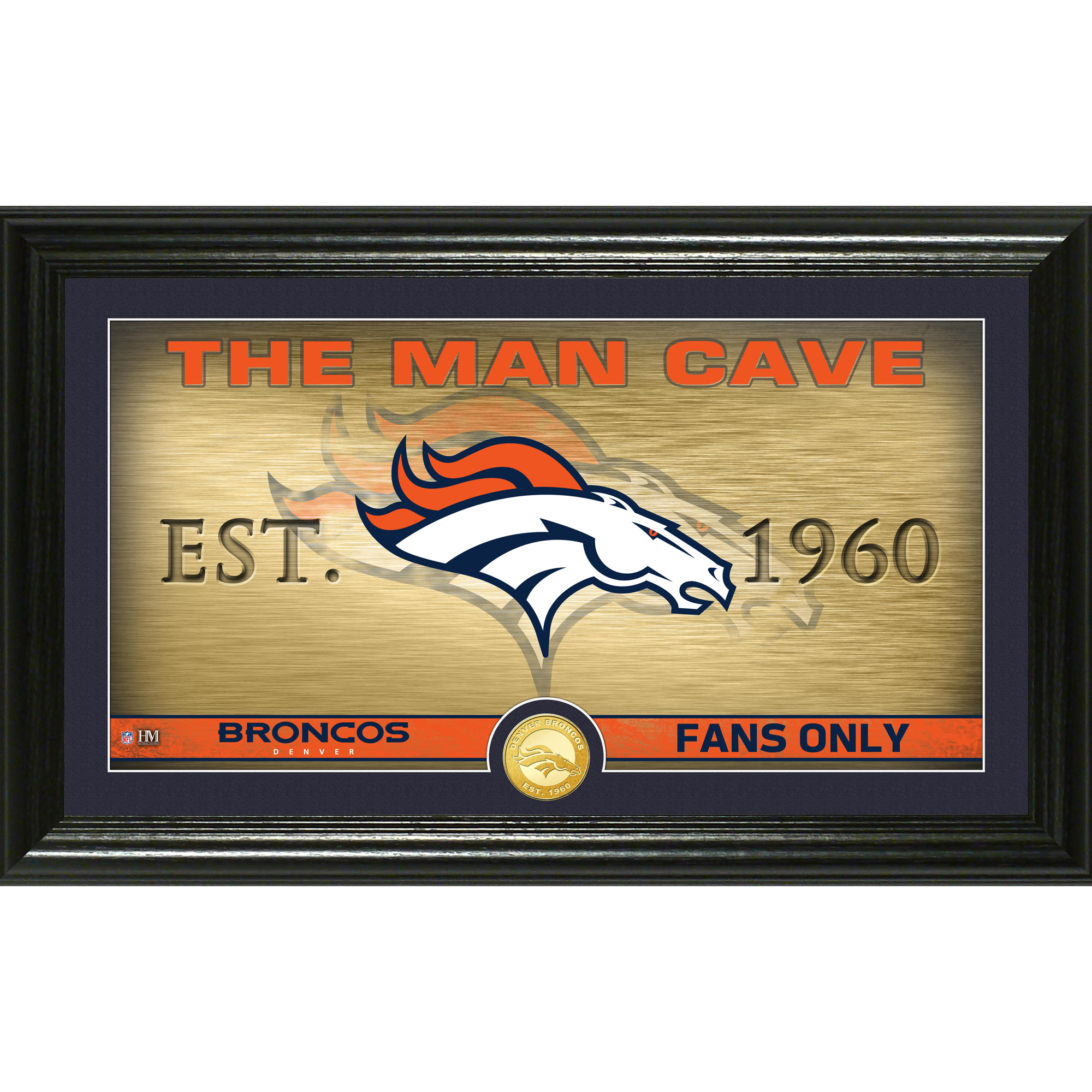 "Denver Broncos Highland Mint 12"" x 20"" Man Cave Photo Mint"