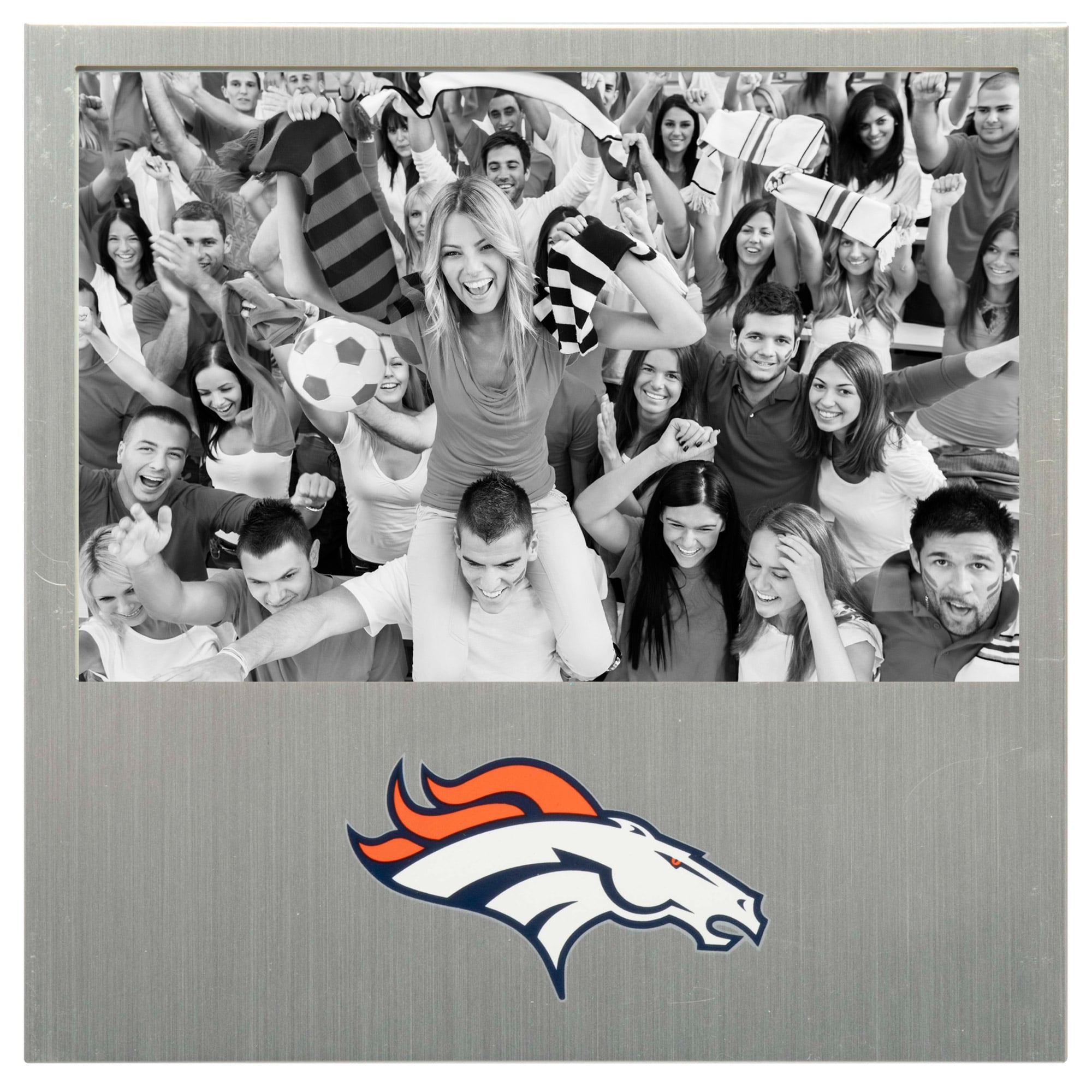 "Denver Broncos 4"" x 6"" Aluminum Picture Frame"