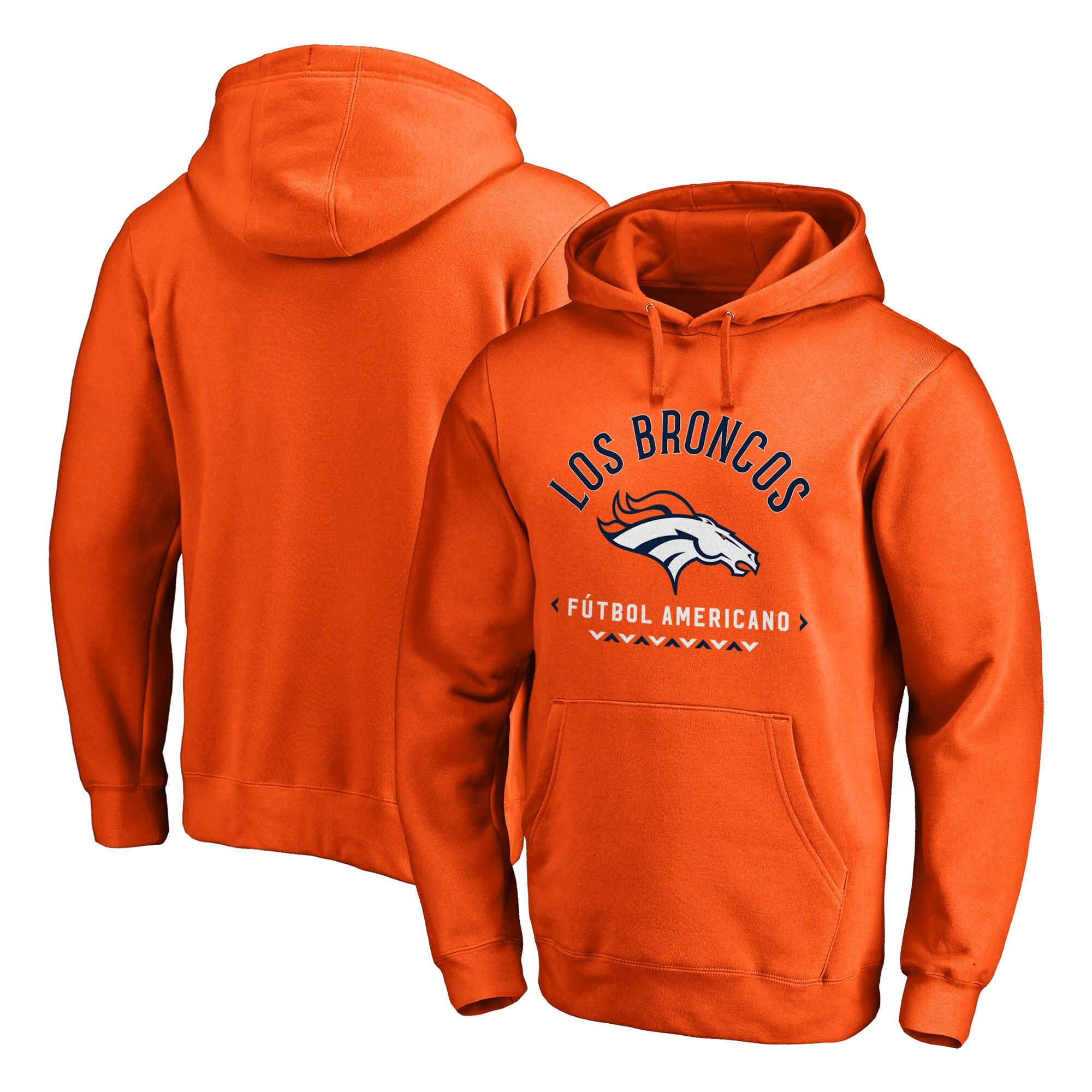 Denver Broncos NFL Pro Line by Fanatics Branded Futbol Americano Pullover Hoodie - Orange