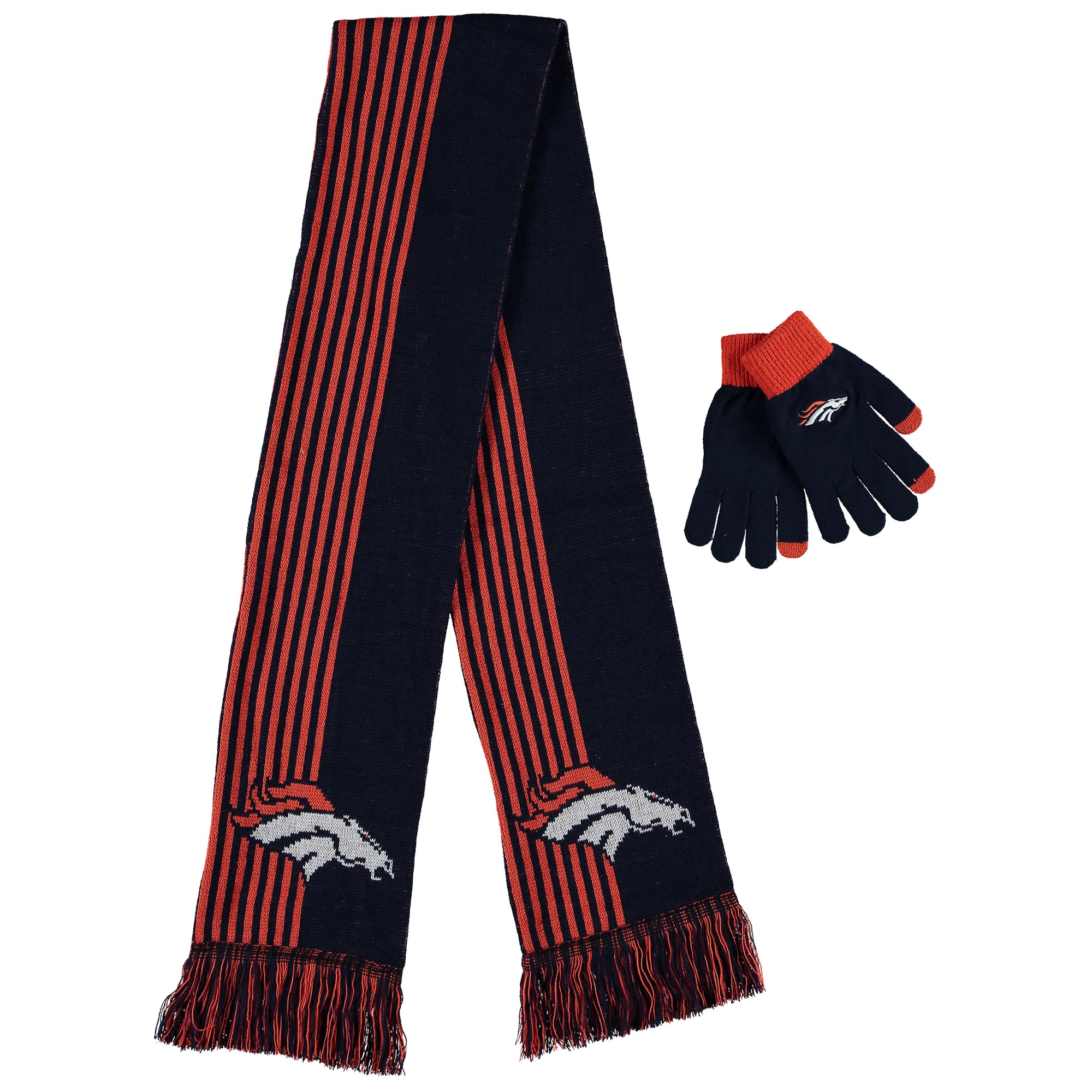 Denver Broncos Women's Gloves & Scarf Set - Navy