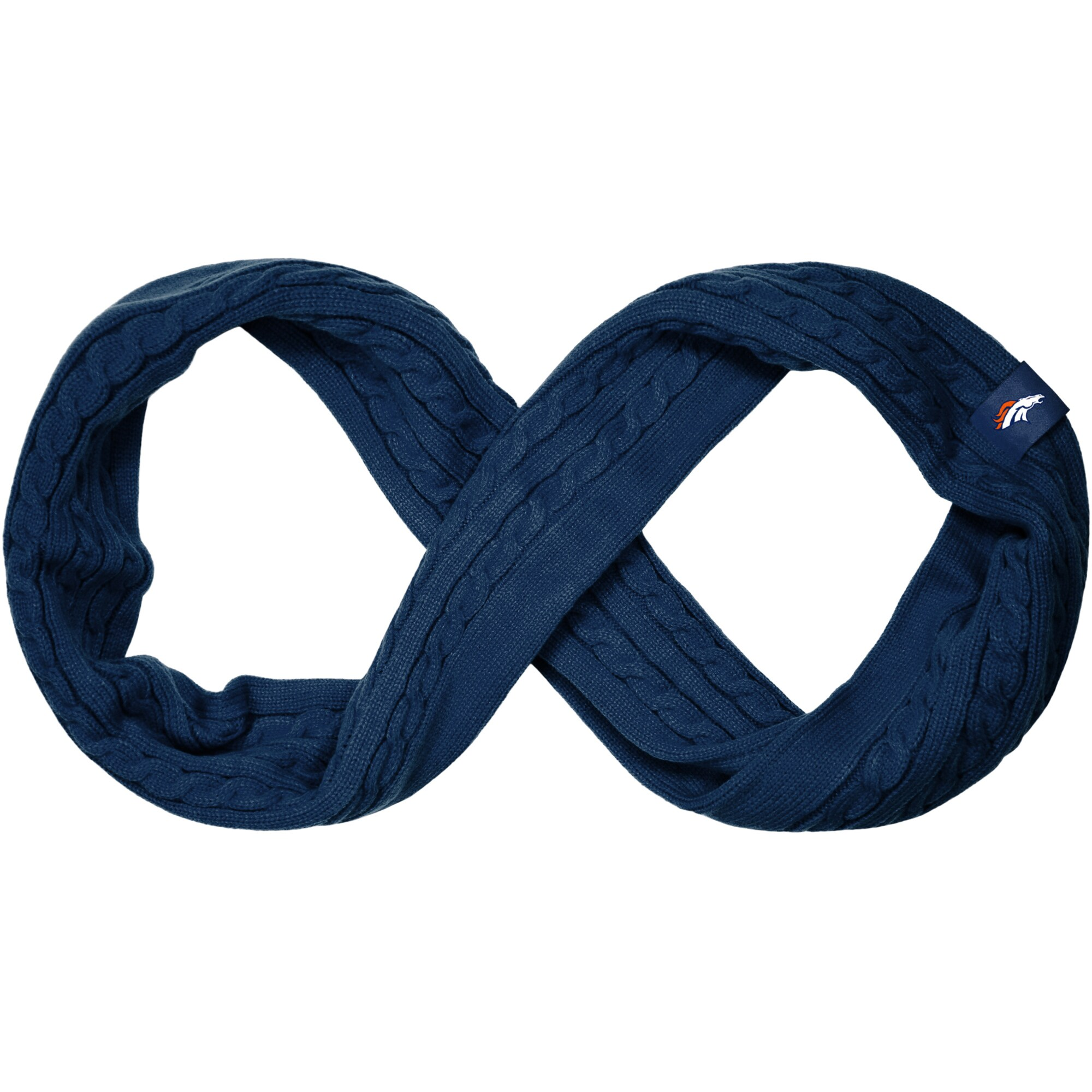 Denver Broncos Women's Cable Knit Infinity Scarf - Navy