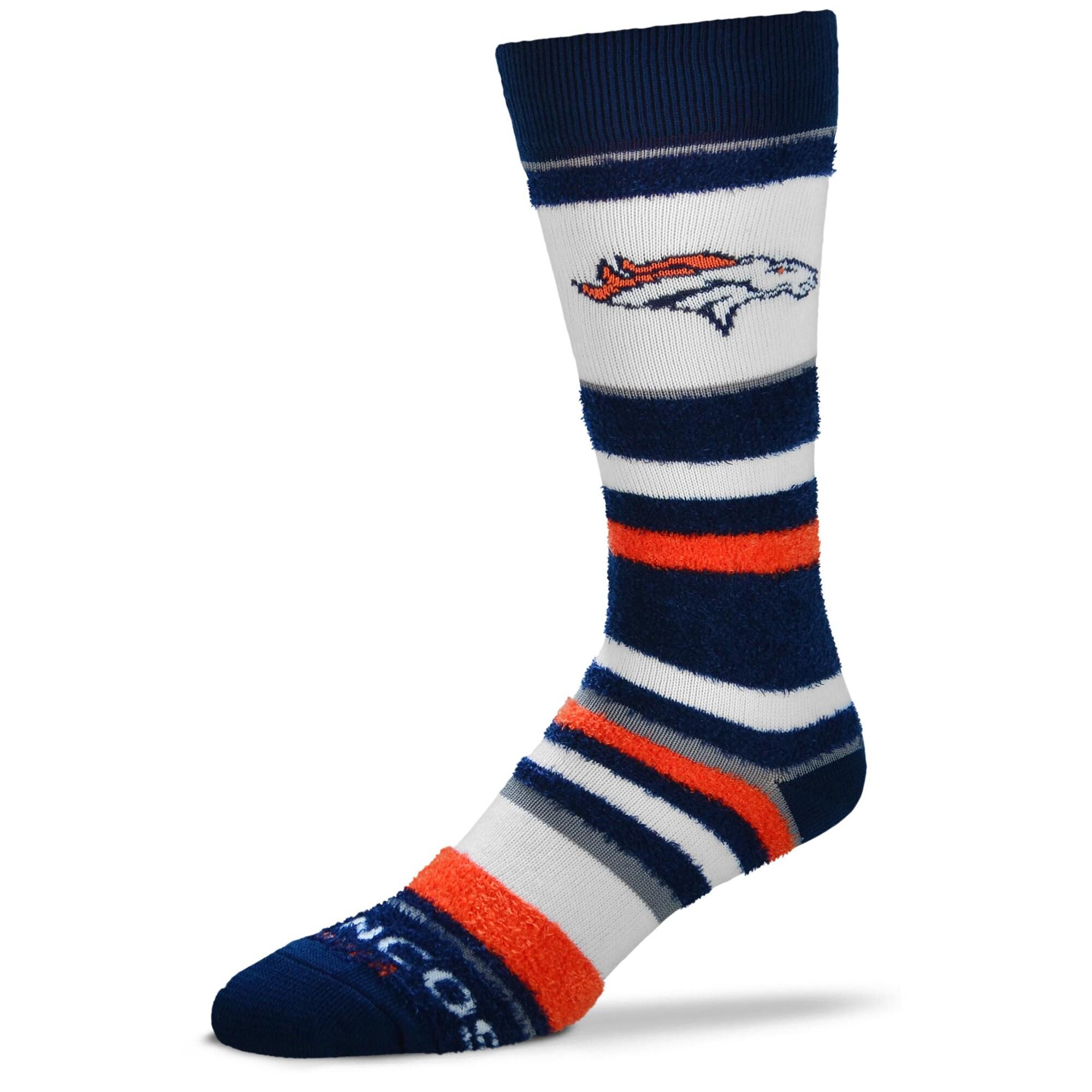 Denver Broncos For Bare Feet Women's Soft Stripe Quarter-Length Socks