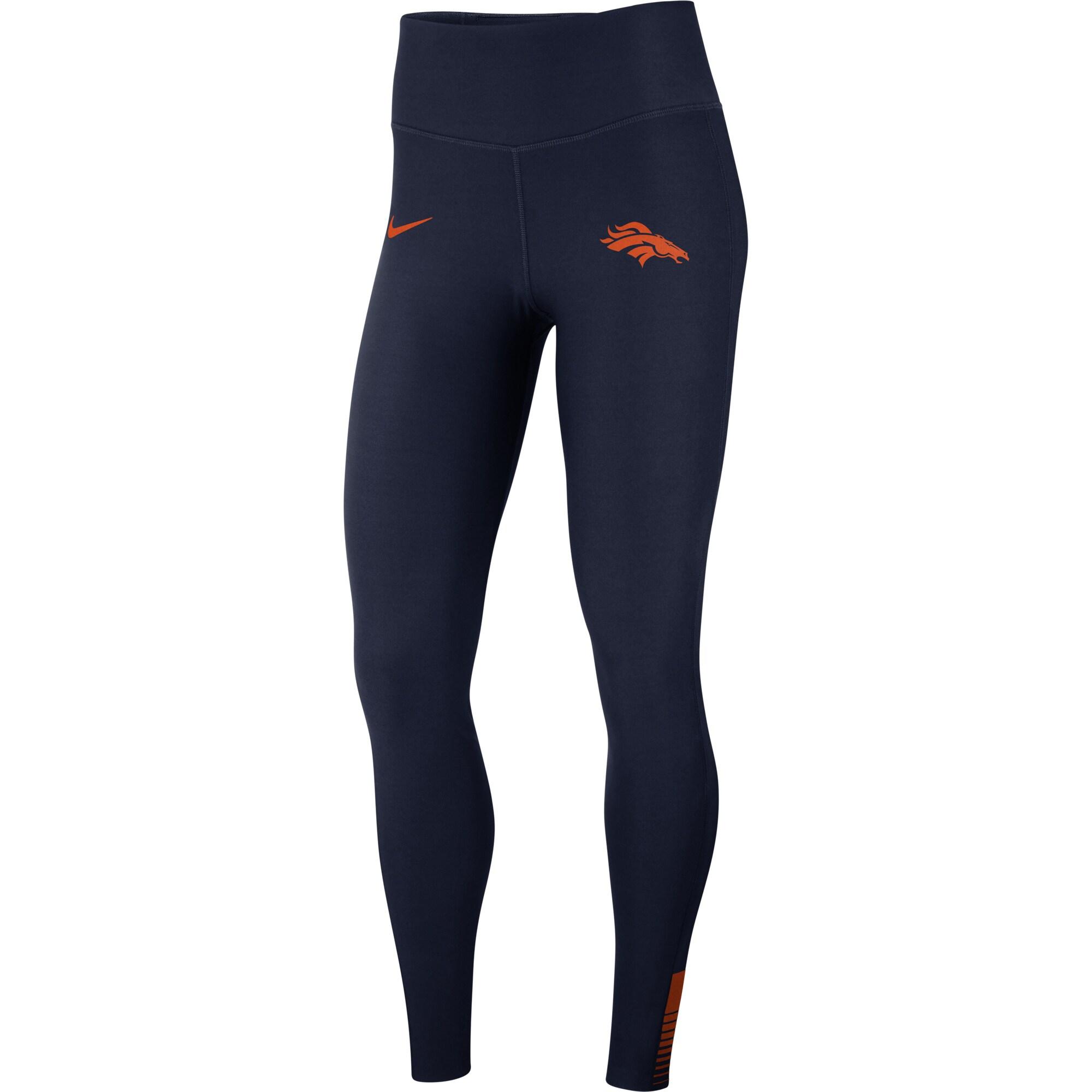 Denver Broncos Nike Women's Power Sculpt Performance Leggings - Navy