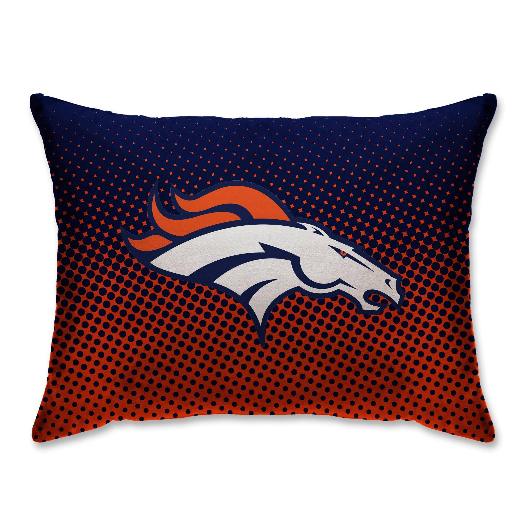 "Denver Broncos 20"" x 26"" Dot Decorative Bed Pillow"