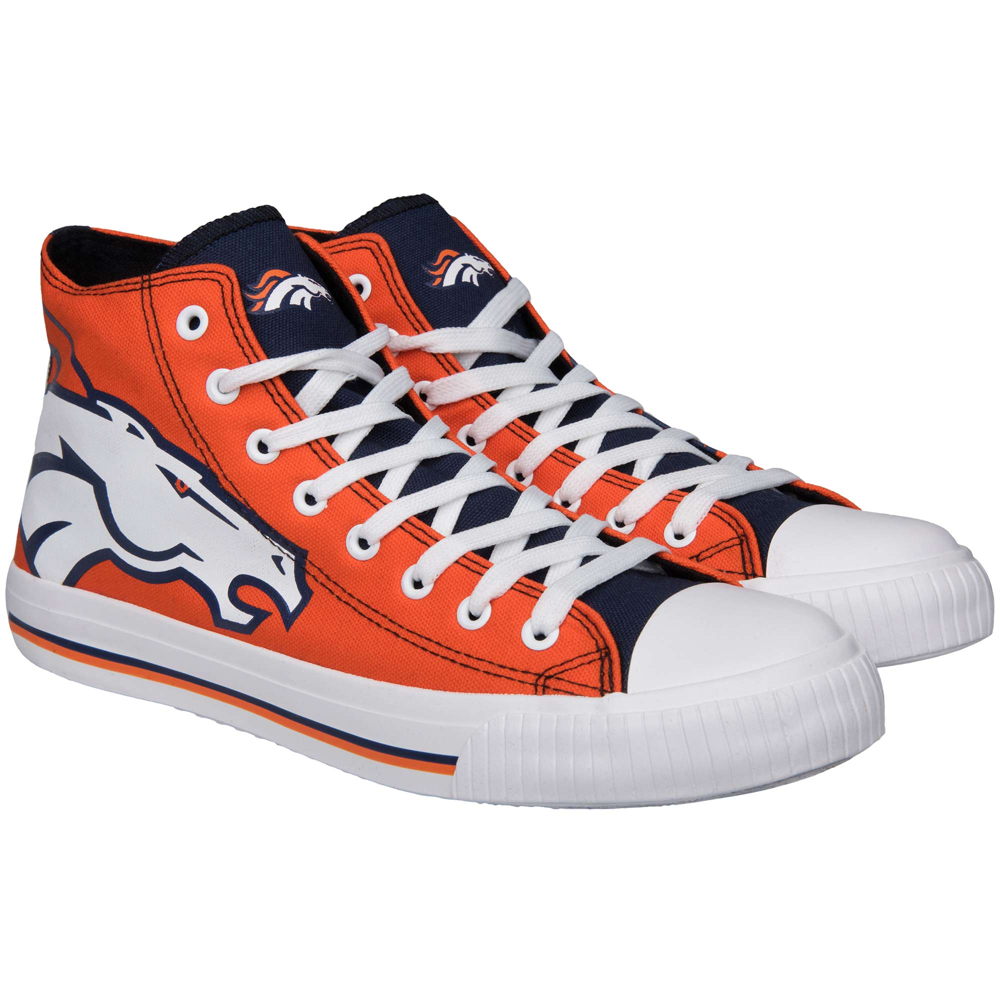 Denver Broncos Big Logo High Top Sneakers