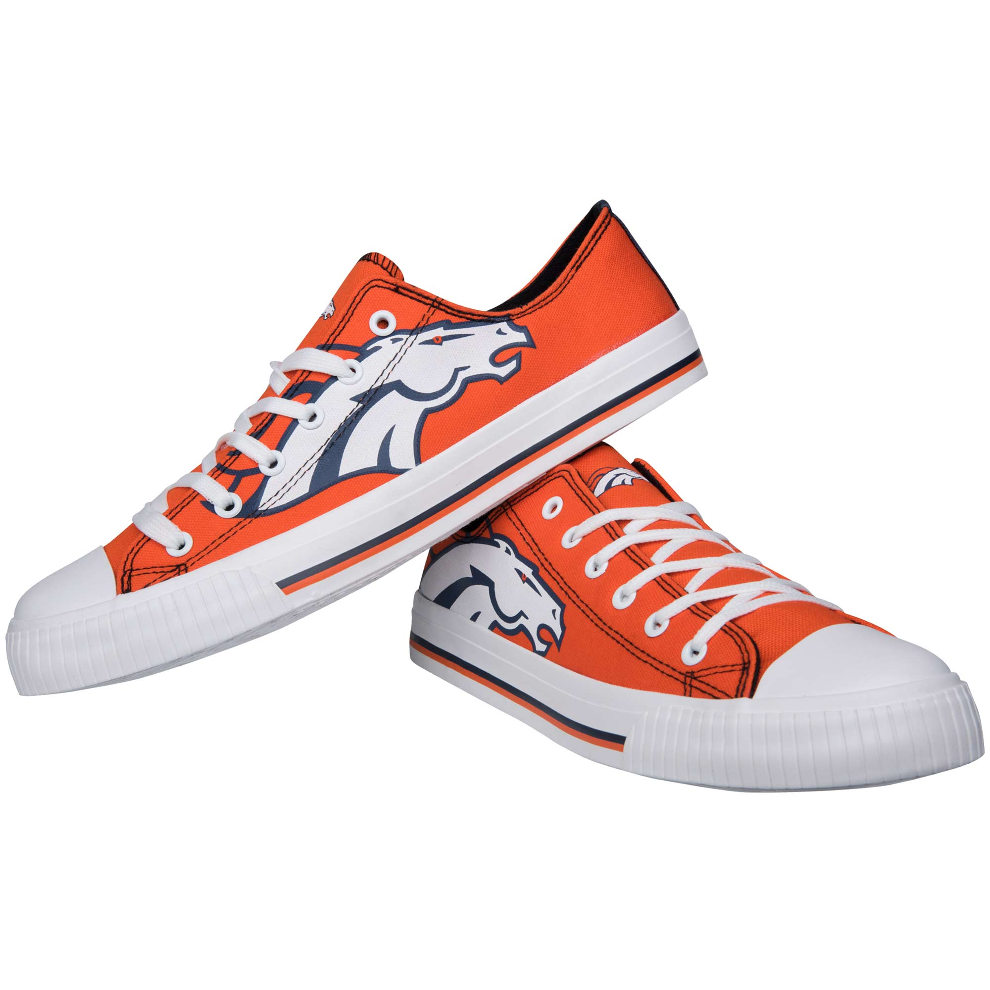 Denver Broncos Big Logo Low Top Sneakers
