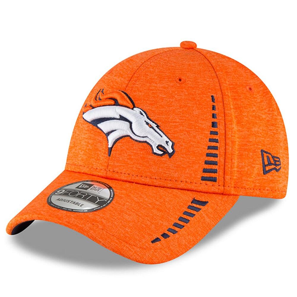 Denver Broncos New Era Speed Shadow Tech 9FORTY Adjustable Hat - Orange