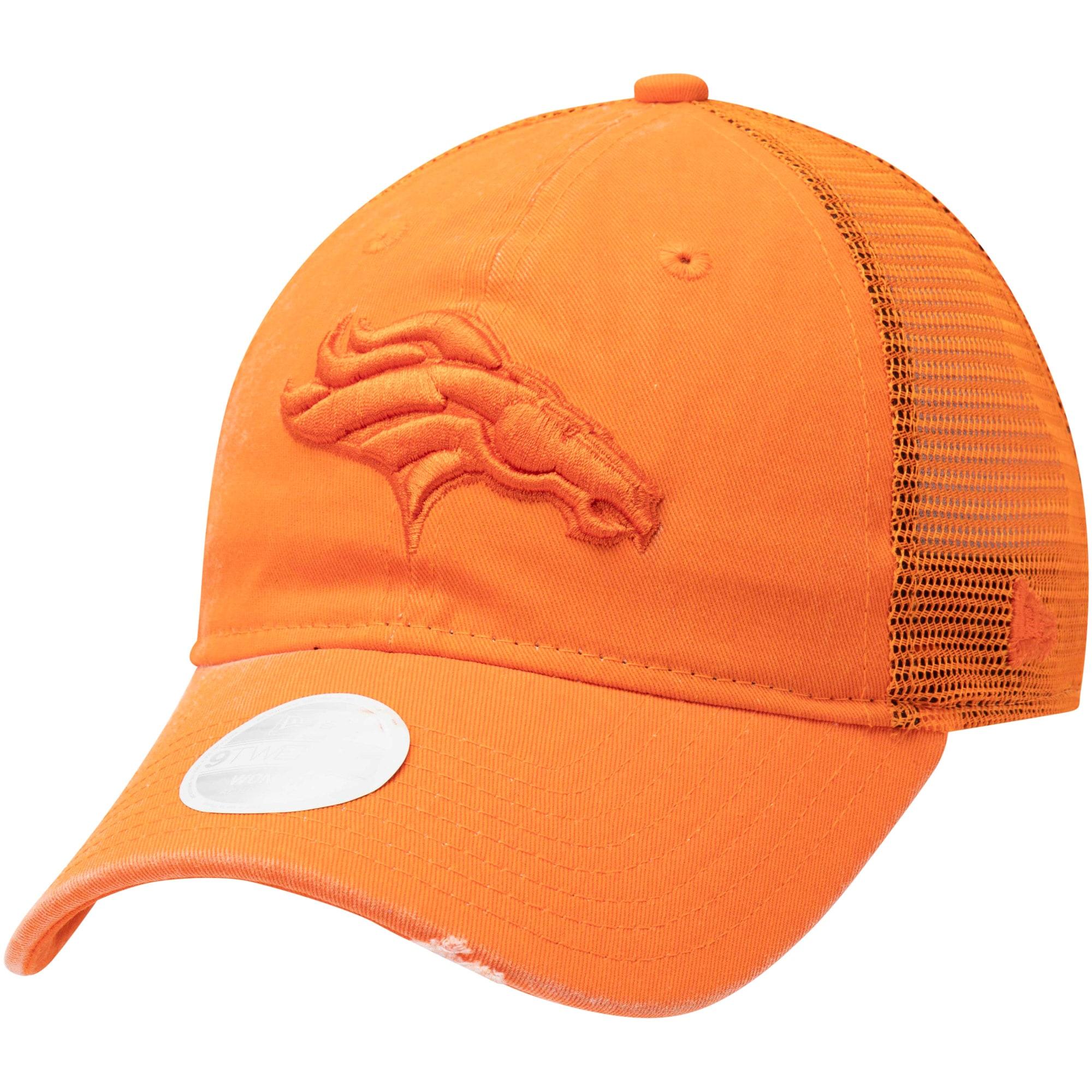 Denver Broncos New Era Women's Tonal Washed Trucker 9TWENTY Adjustable Hat - Orange