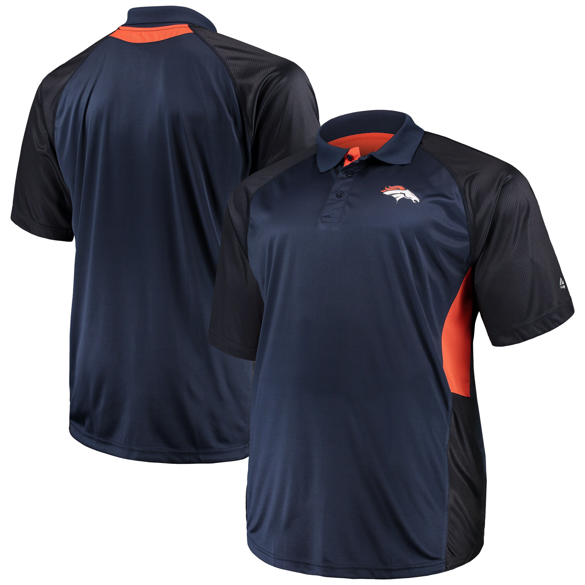 Denver Broncos Majestic Big & Tall Game Day Club Polo - Navy