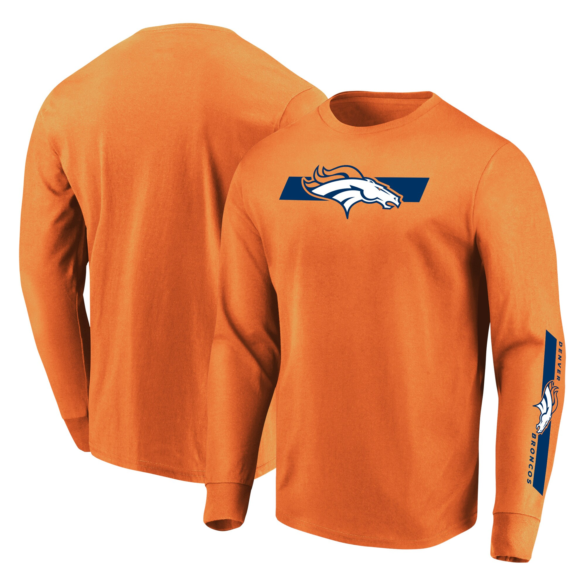 Denver Broncos Majestic Big & Tall Dual Threat Long Sleeve T-Shirt - Orange
