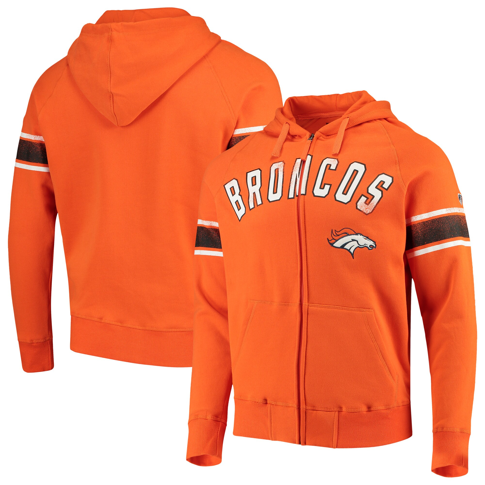 Denver Broncos Hands High Arena Full-Zip Hoodie - Orange