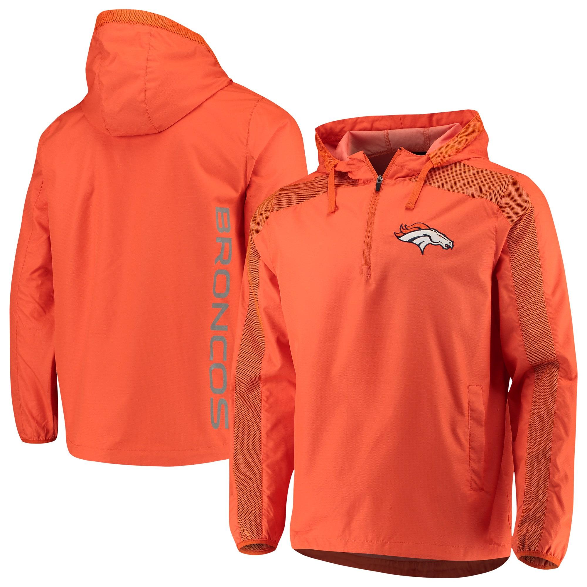Denver Broncos G-III Sports by Carl Banks Lineup Hooded Half-Zip Jacket - Orange
