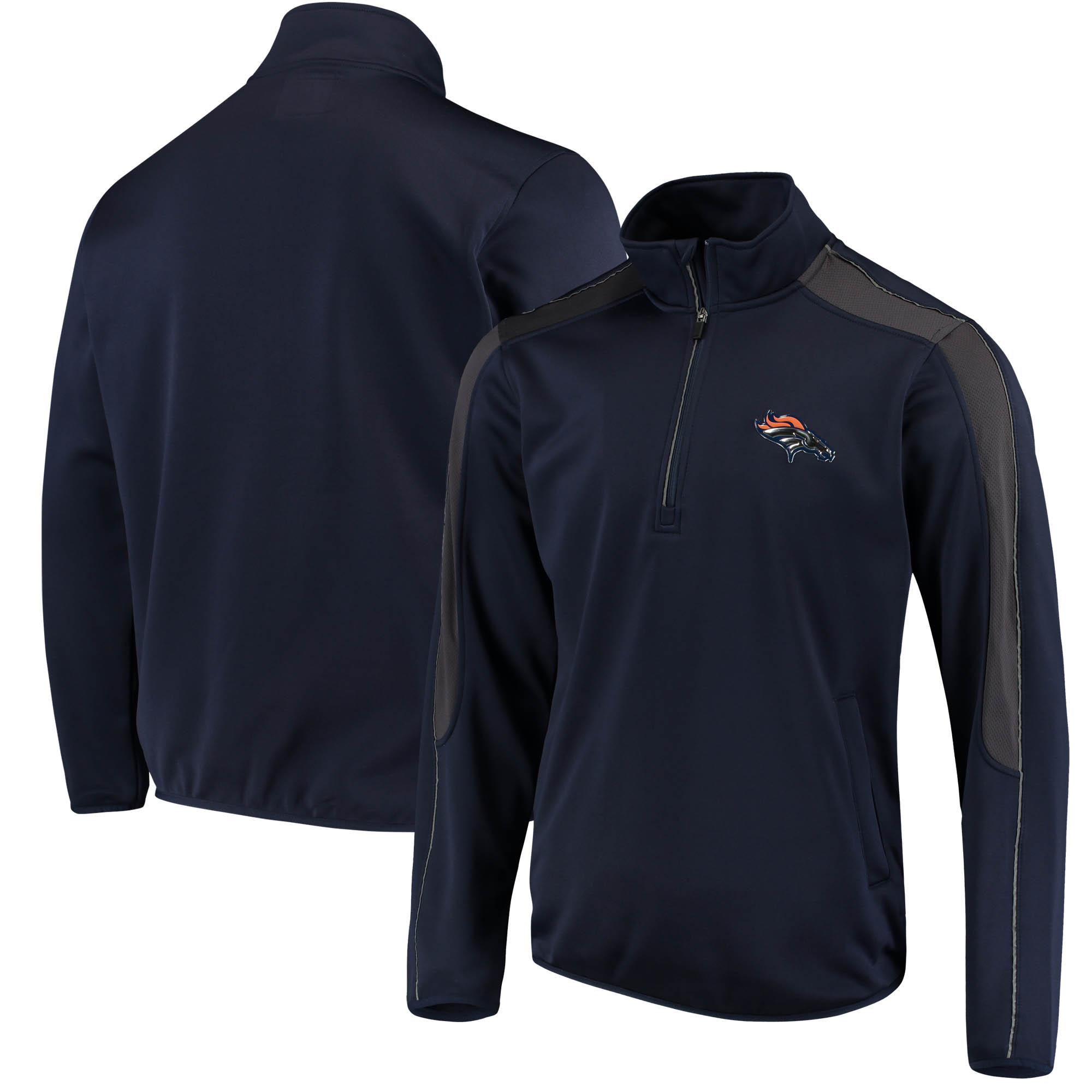 Denver Broncos G-III Sports by Carl Banks I Formation Quarter-Zip Pullover Jacket - Navy