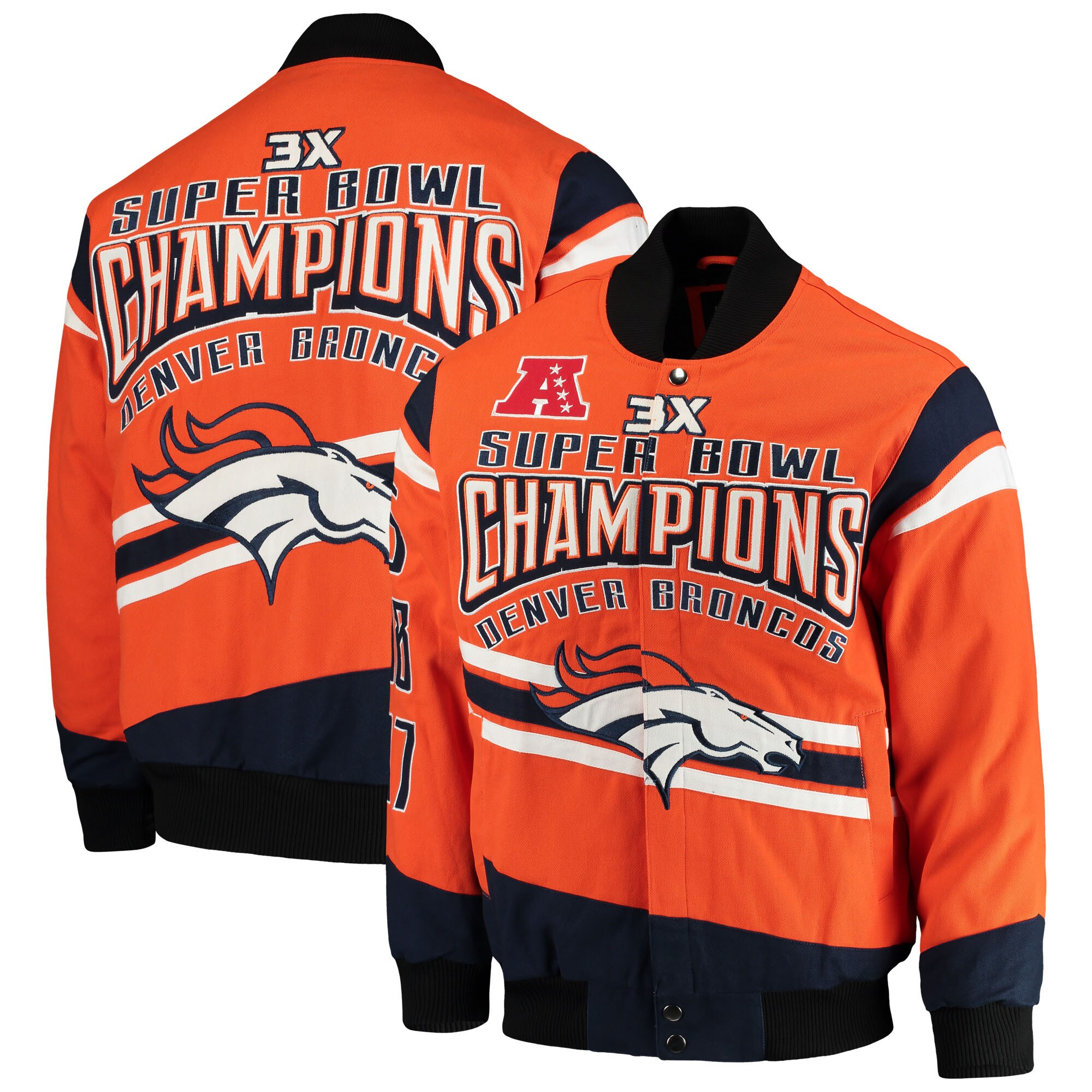 Denver Broncos G-III Extreme Gladiator Commemorative Cotton Twill Jacket - Orange